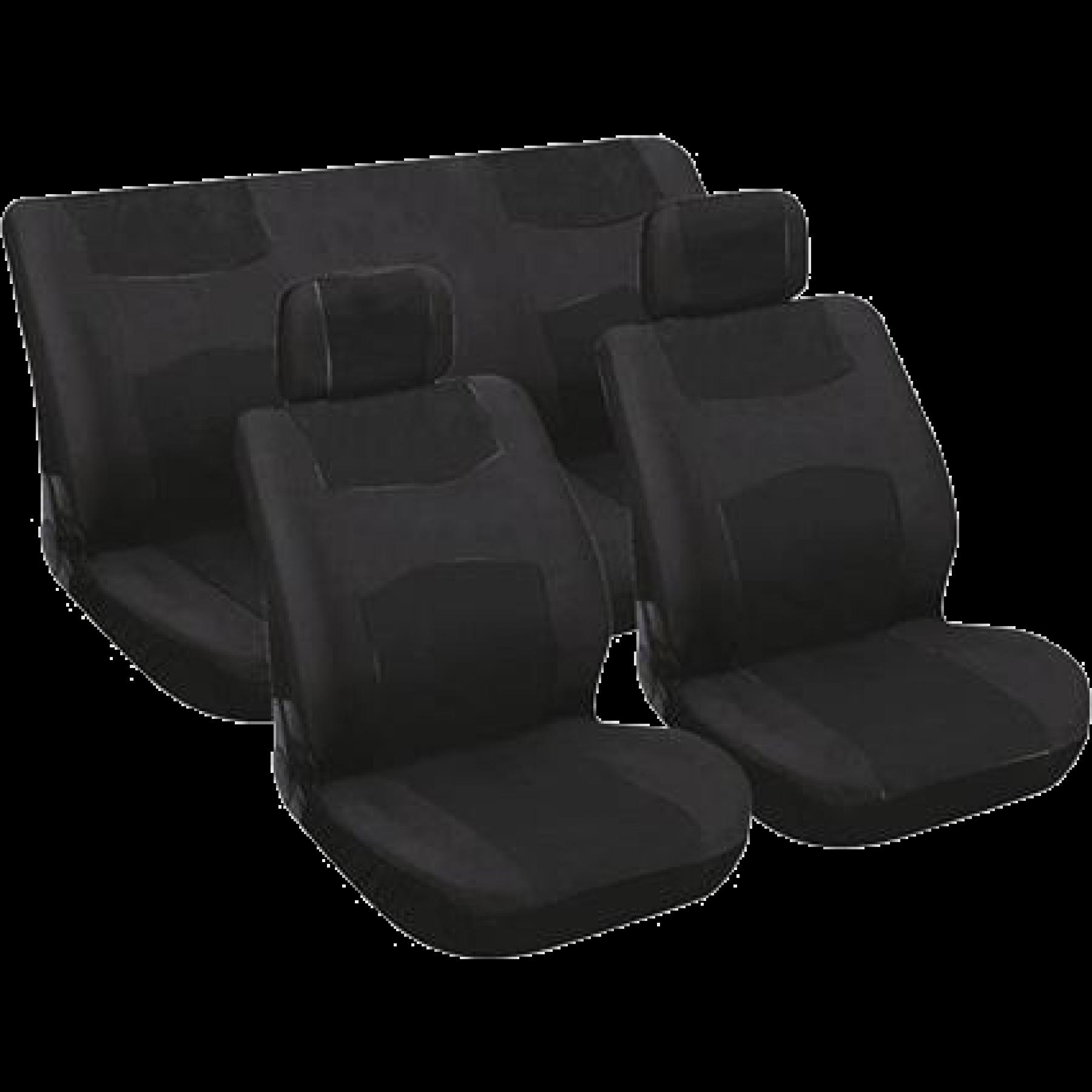 Set autostoelhoesen 6 delig. zwart. 0310051
