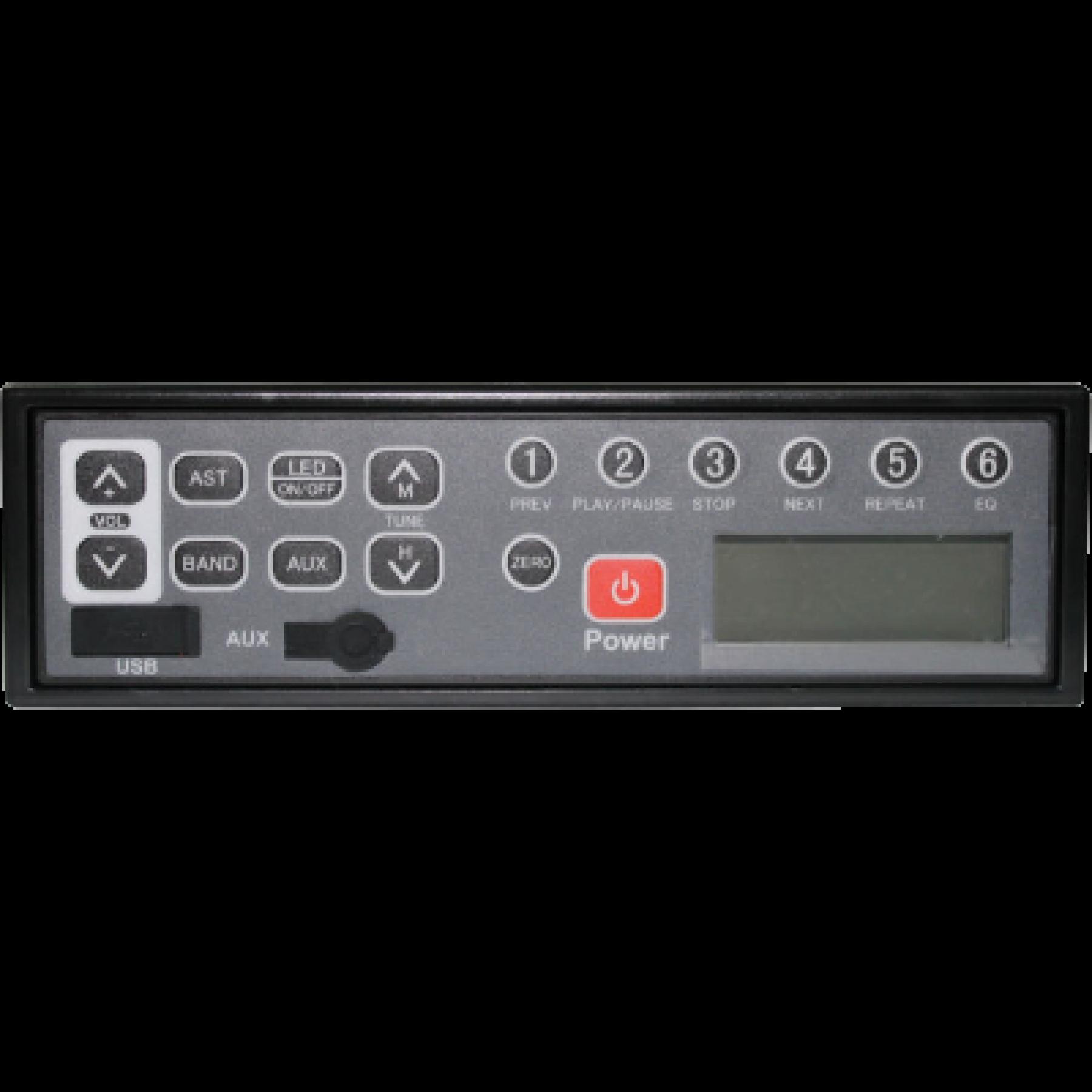 Hidaka autoradio M101 + ISO (USB en AUX)