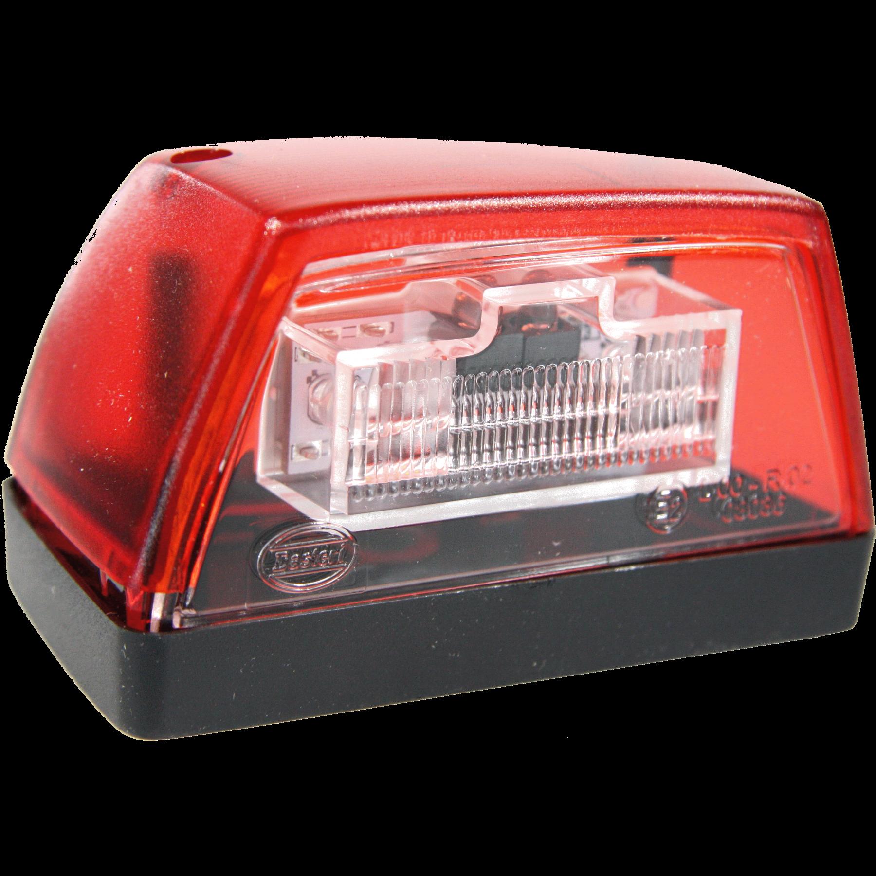 Kentekenverlichting LED rood 24v