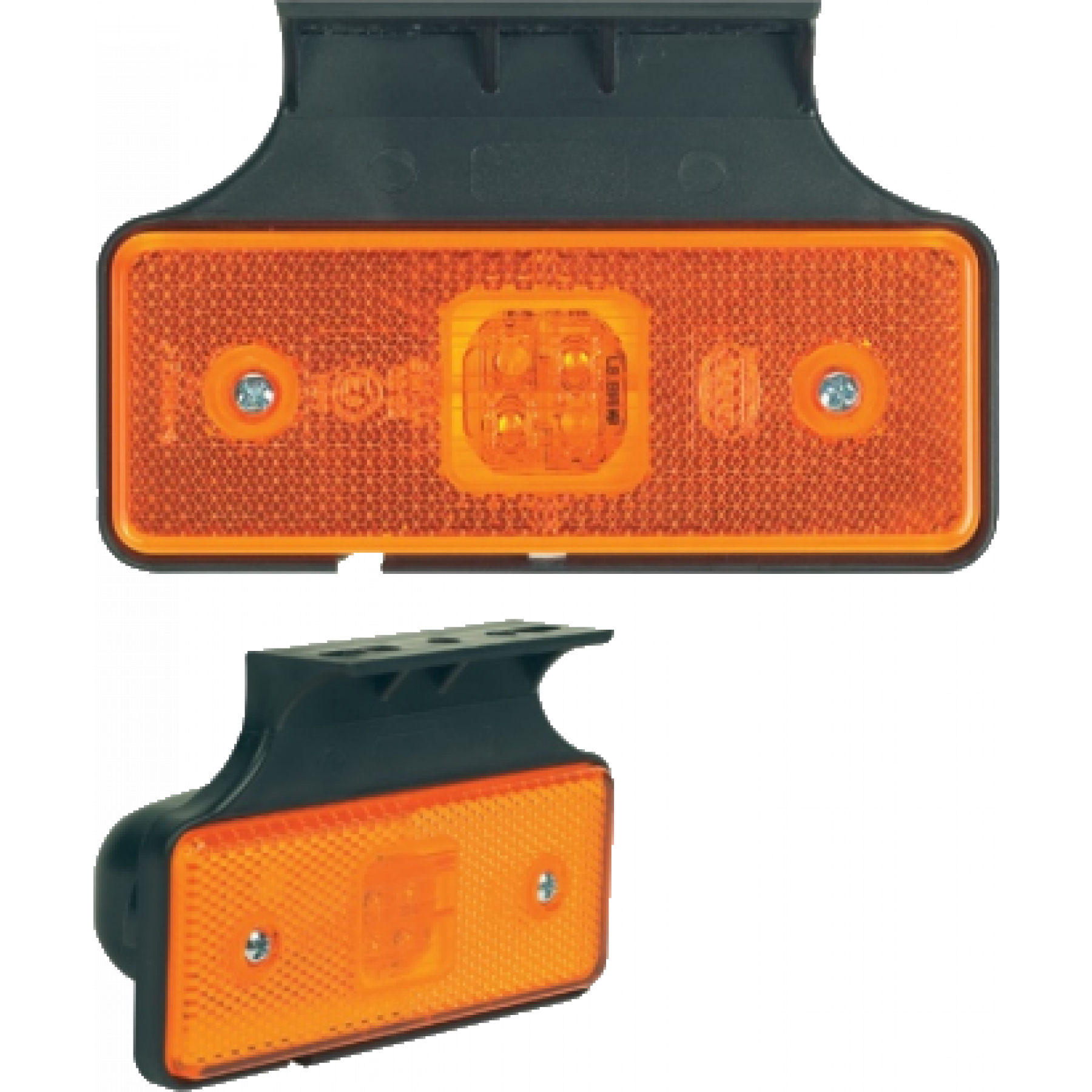 Markeringslamp LED oranje led met steun 12/24v