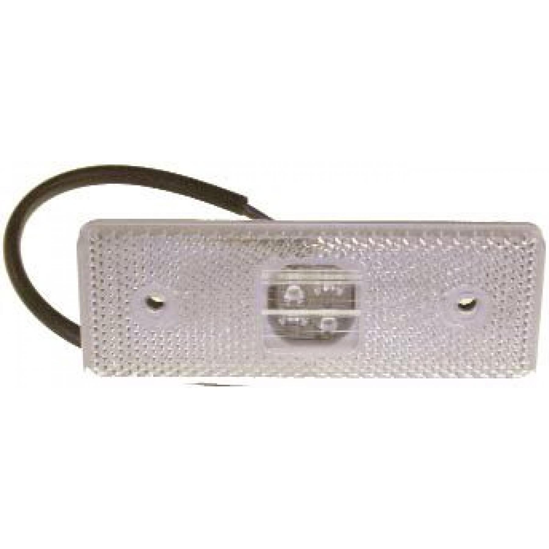 Markeringslamp LED wit 4 led 12/24v