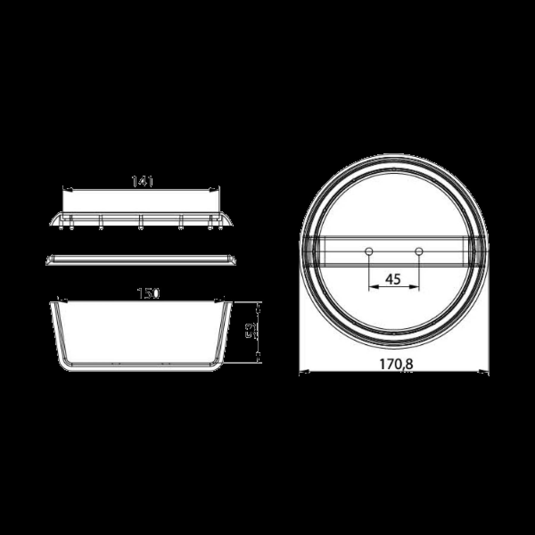 Chroom ring voor Dasteri hamburger lamp 22310073/74