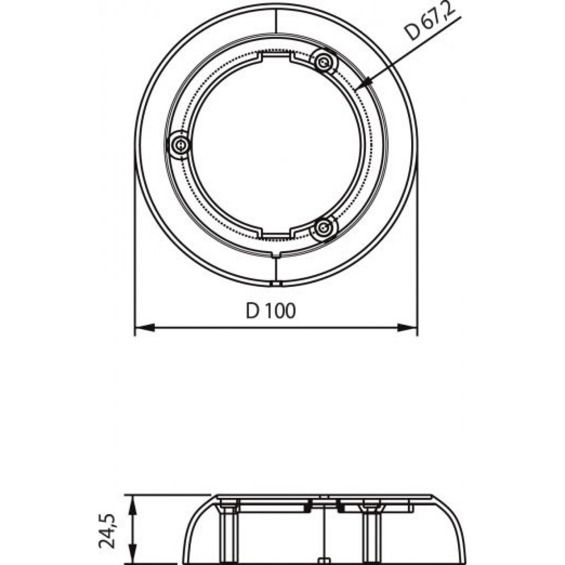 Opbouwring voor Dasteri int.lamp Ø 55 mm