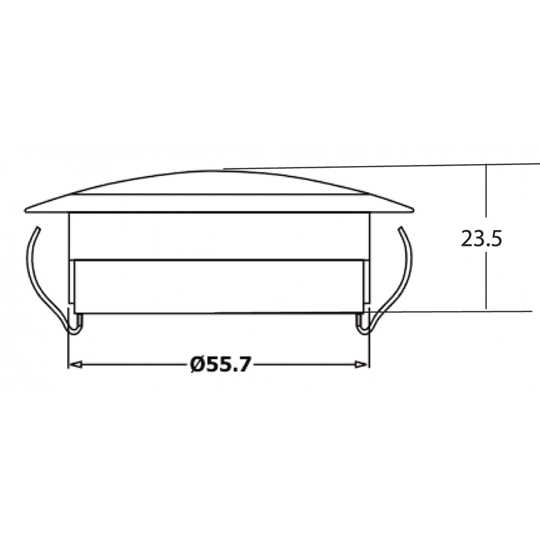 Interieurlamp LED wit Ø 55mm 12v