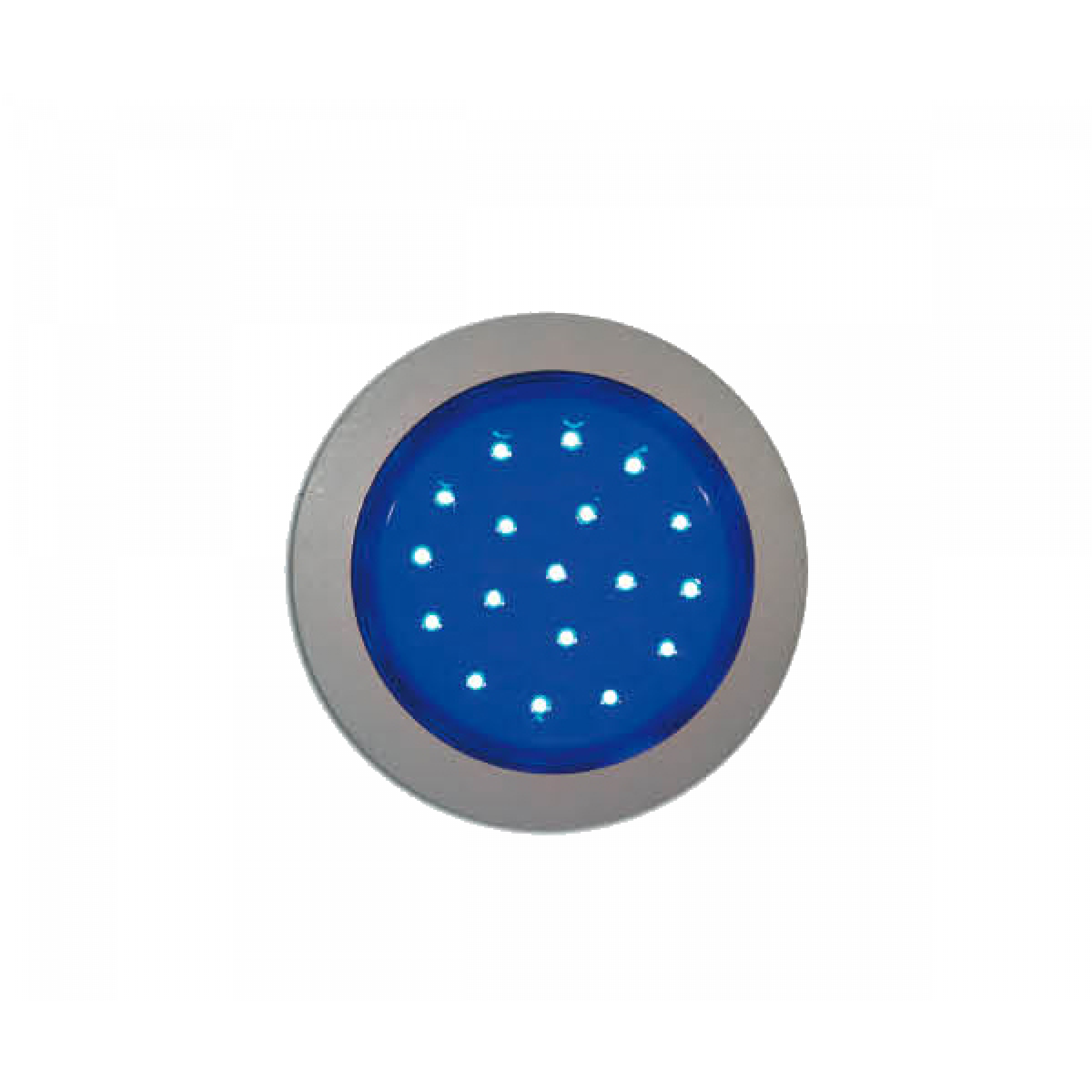 Interieurlamp LED blauw Ø 55mm 24v