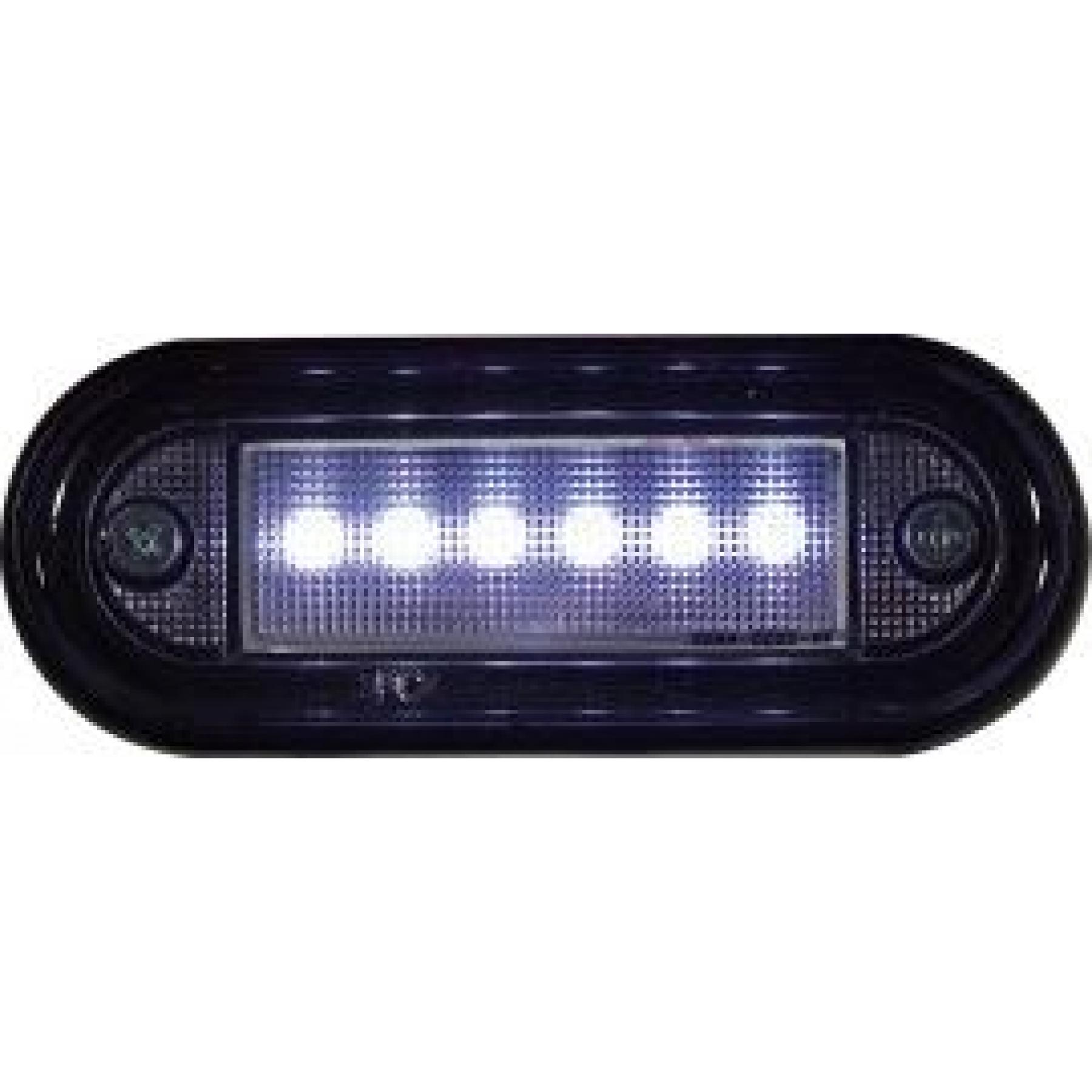 Markeringslamp LED 24v 89x34 Wit 6led