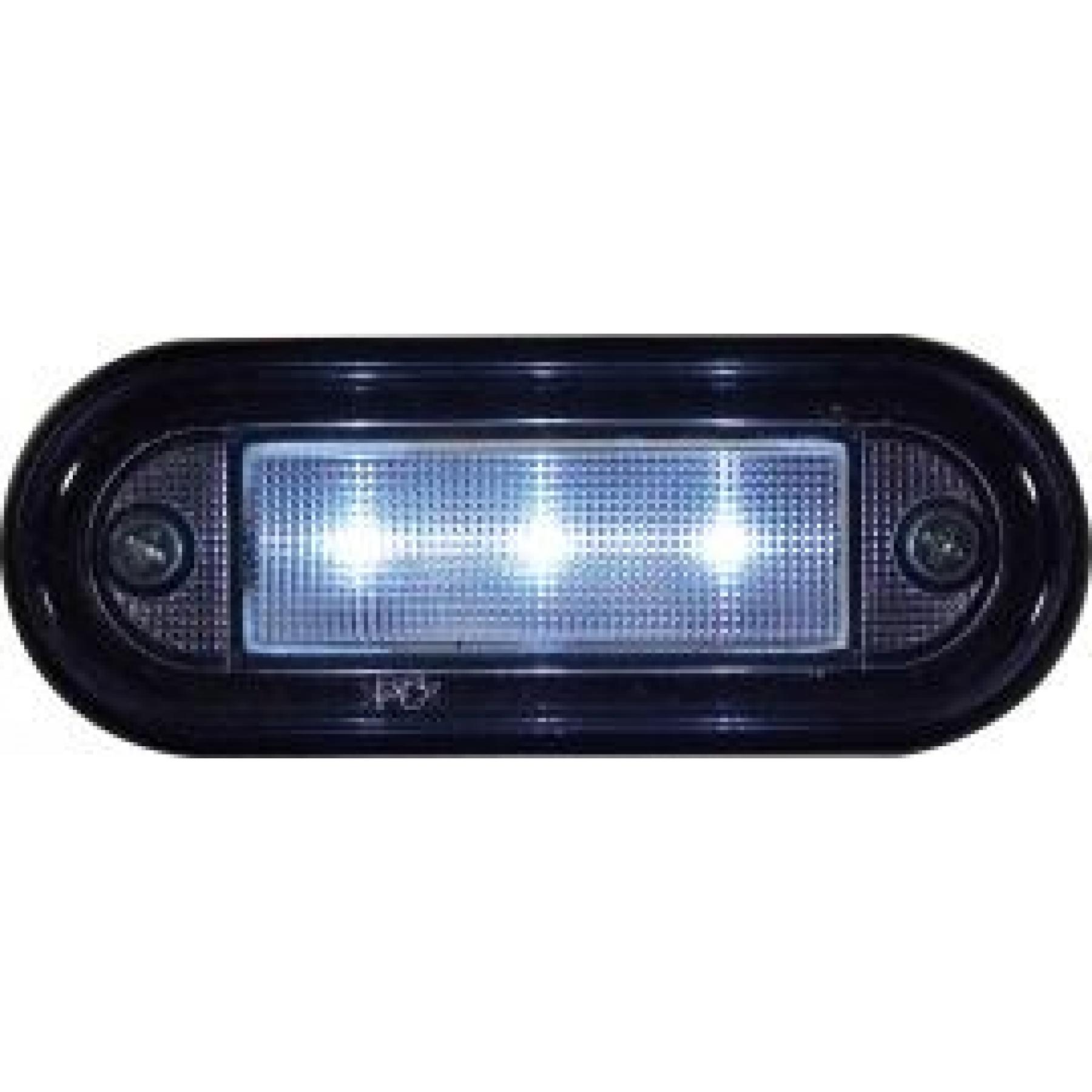 Markeringslamp LED wit 12/24v 3 LED