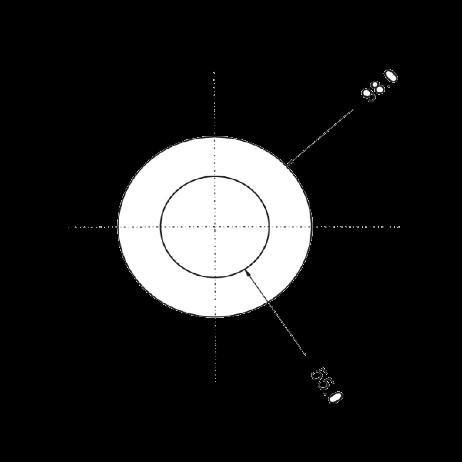 Achterlicht + remlicht LED ringmodel rond Ø 98mm 12/24v