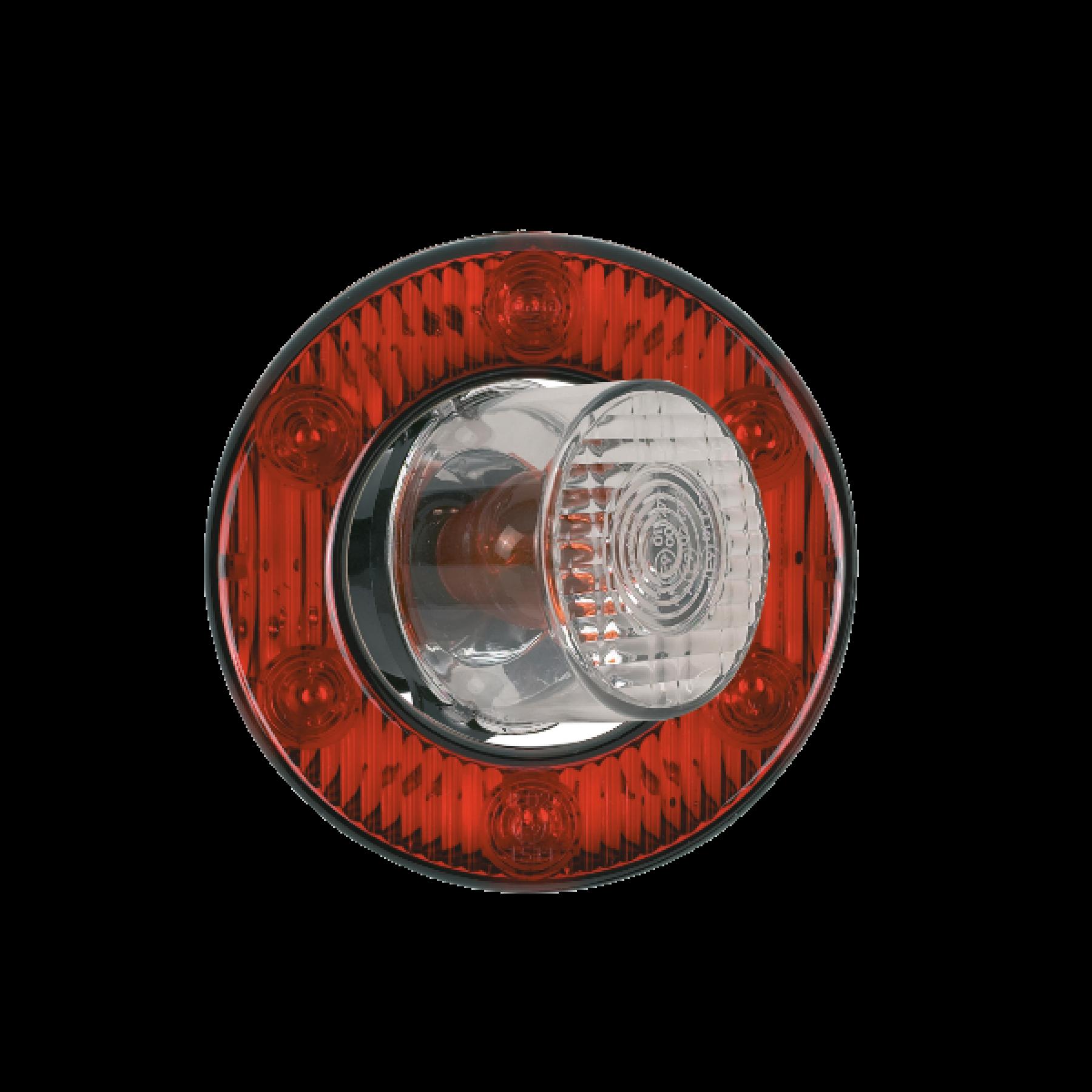 Achterlicht LED ringmodel rond Ø 98mm 24v
