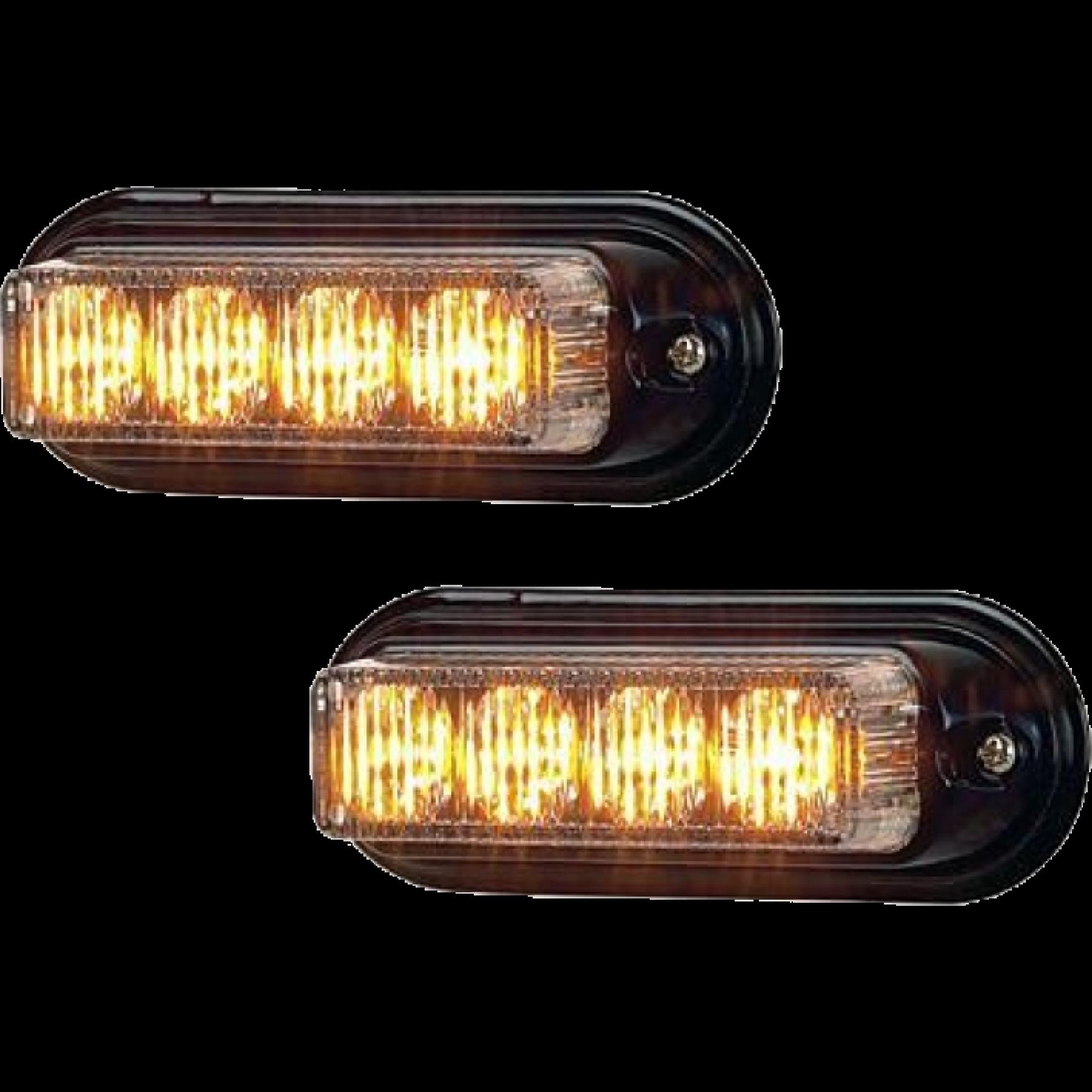 Stroboscoop 12/24v Tact 4 led Amber ECE R65