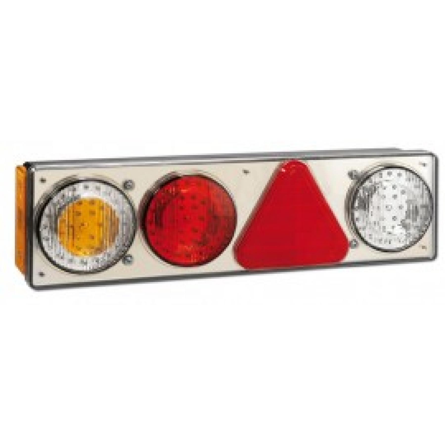 Achterlicht LED links 3 lamp+reflector 24v