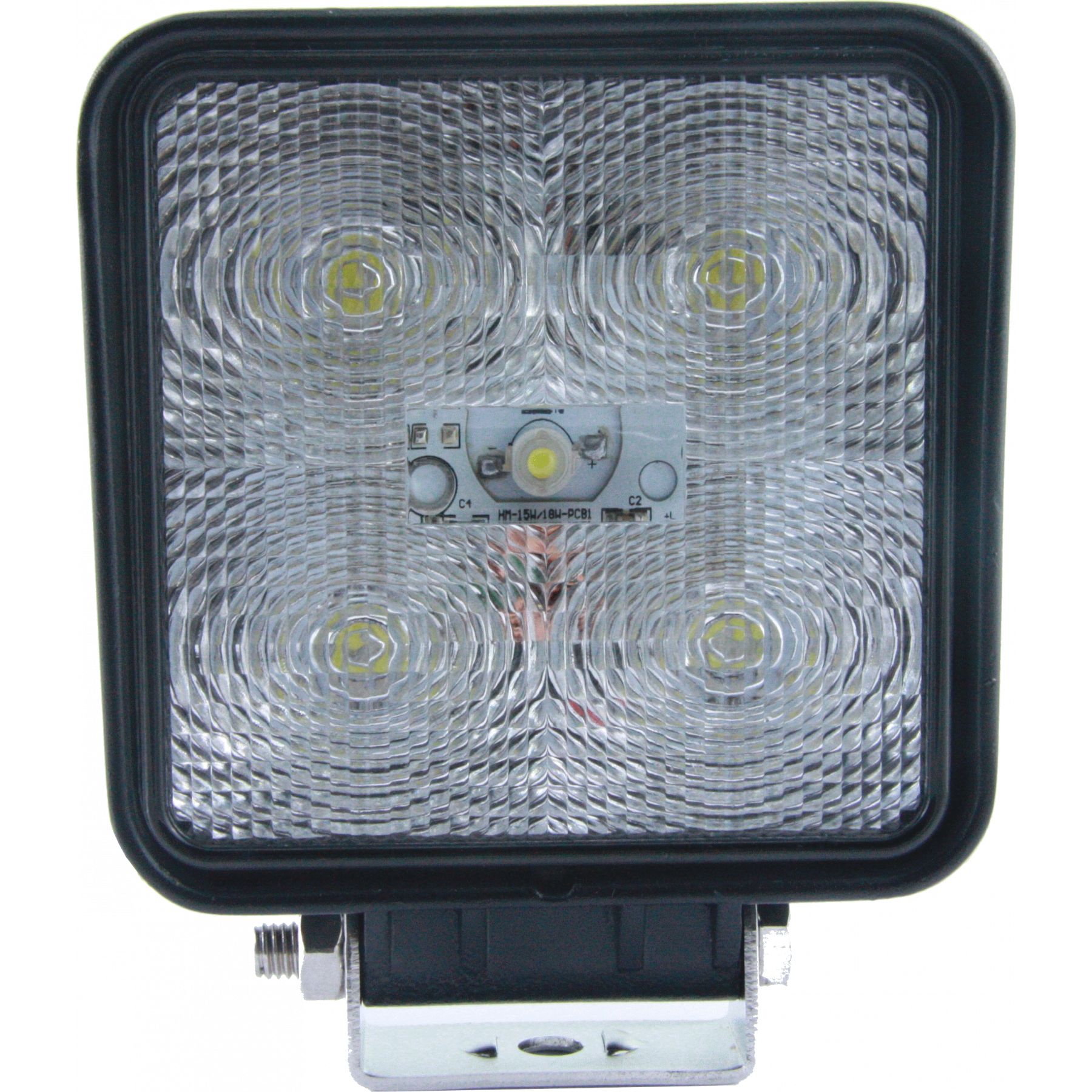 LED werklamp 10-30v vierkant 15w radio ontstoord lange kabel