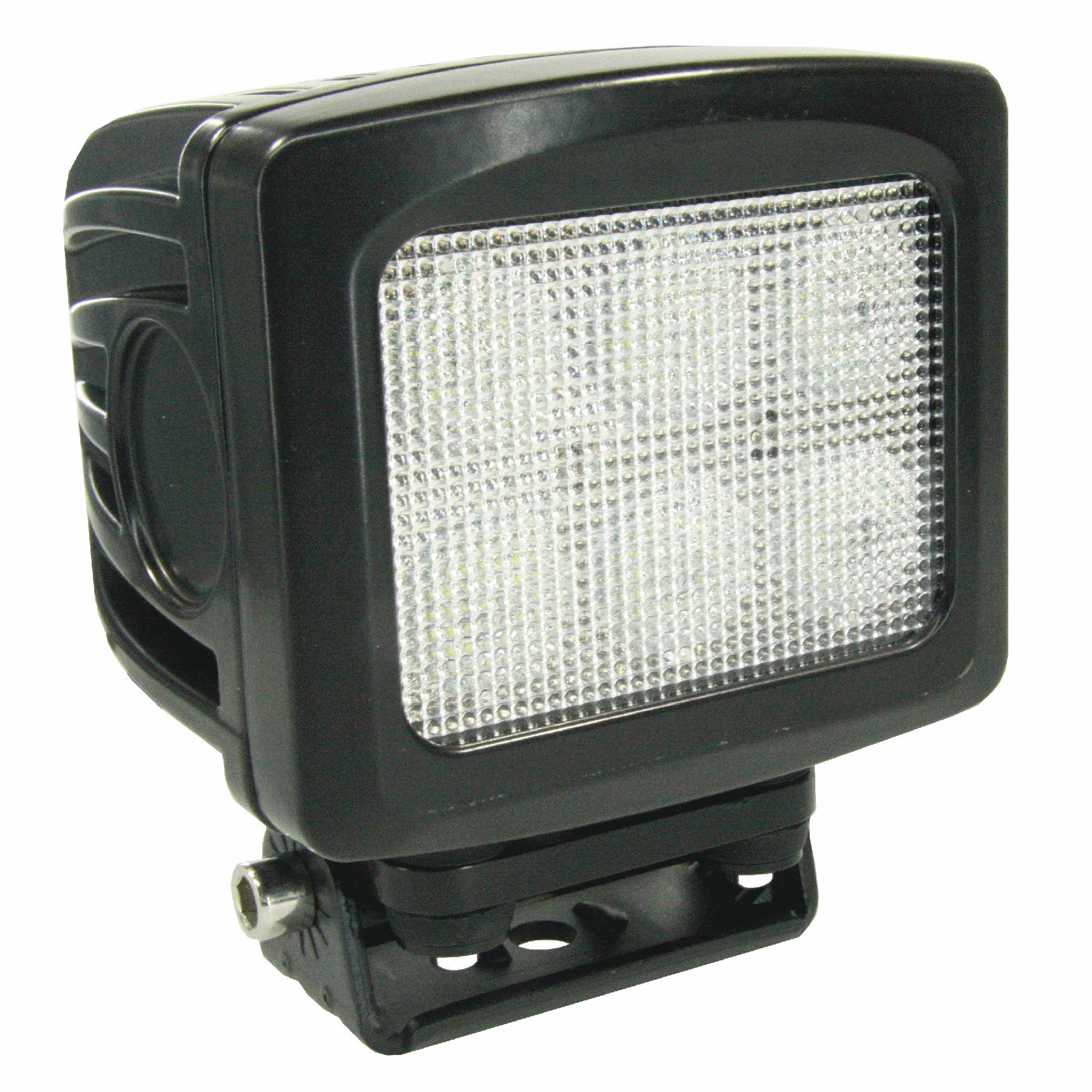 LED werklamp 60W 6x10W 6LEDS radio-ontstoord met 40cm. kabel