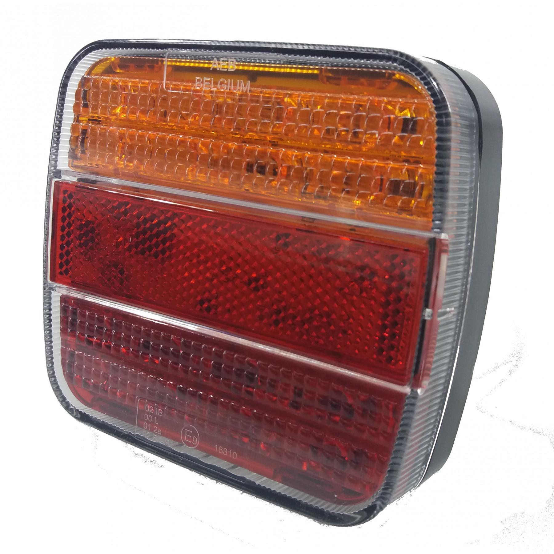 Achterlicht LED m.kent. 12/24V vierkant
