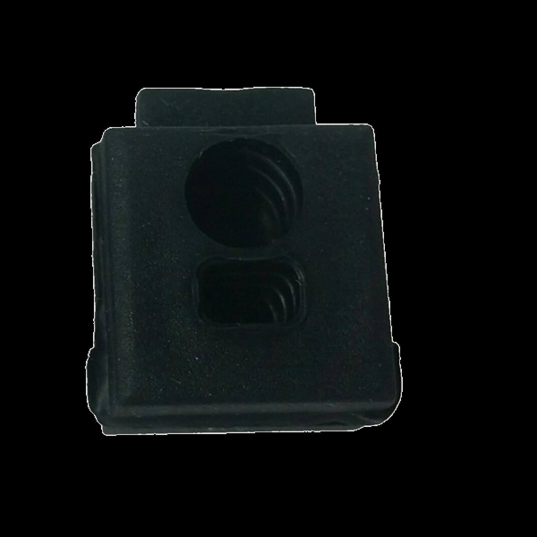 Aspock kabeldoorvoer 1xrond,1xhoekig gesloten