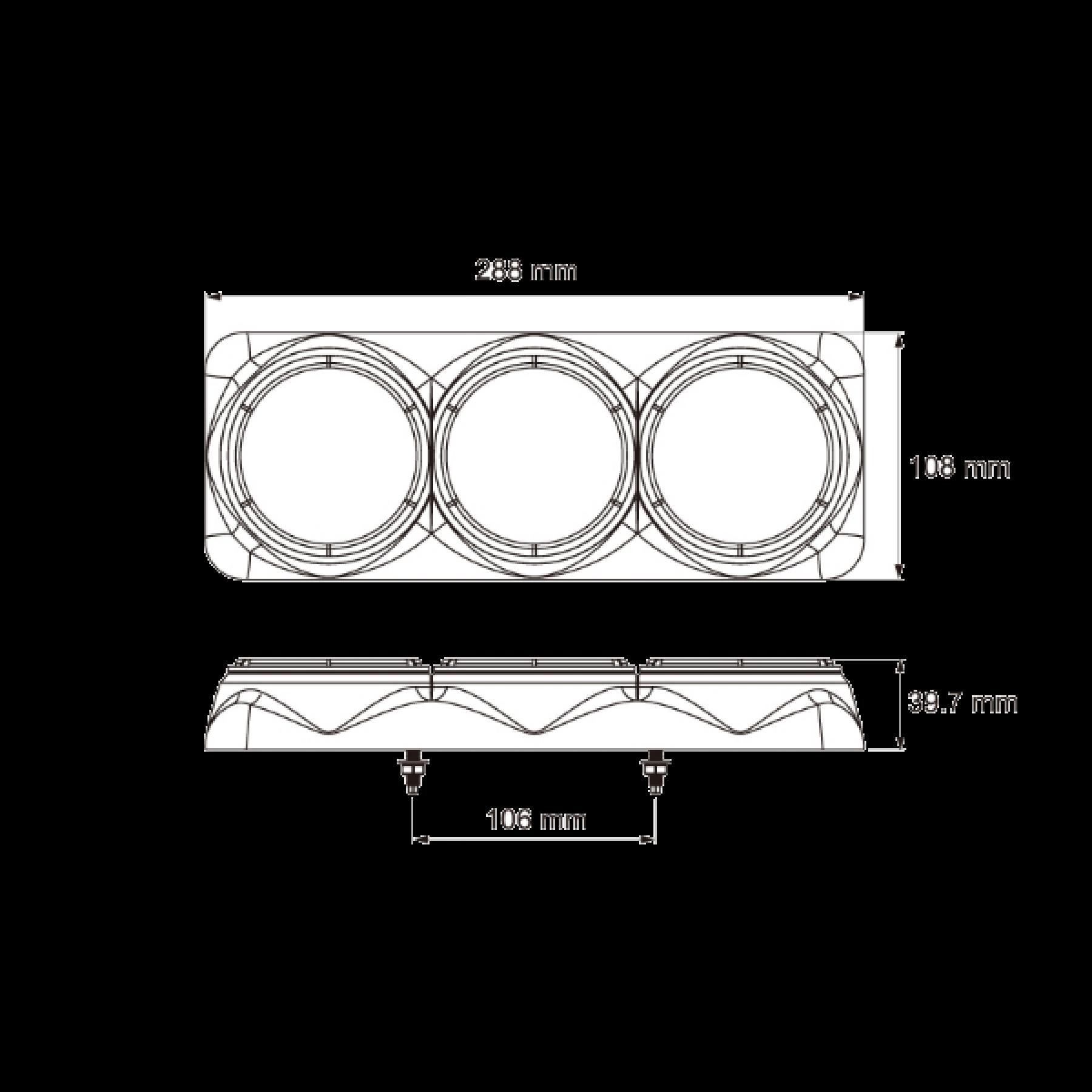 Achterlicht LED 4-functies 12/24v