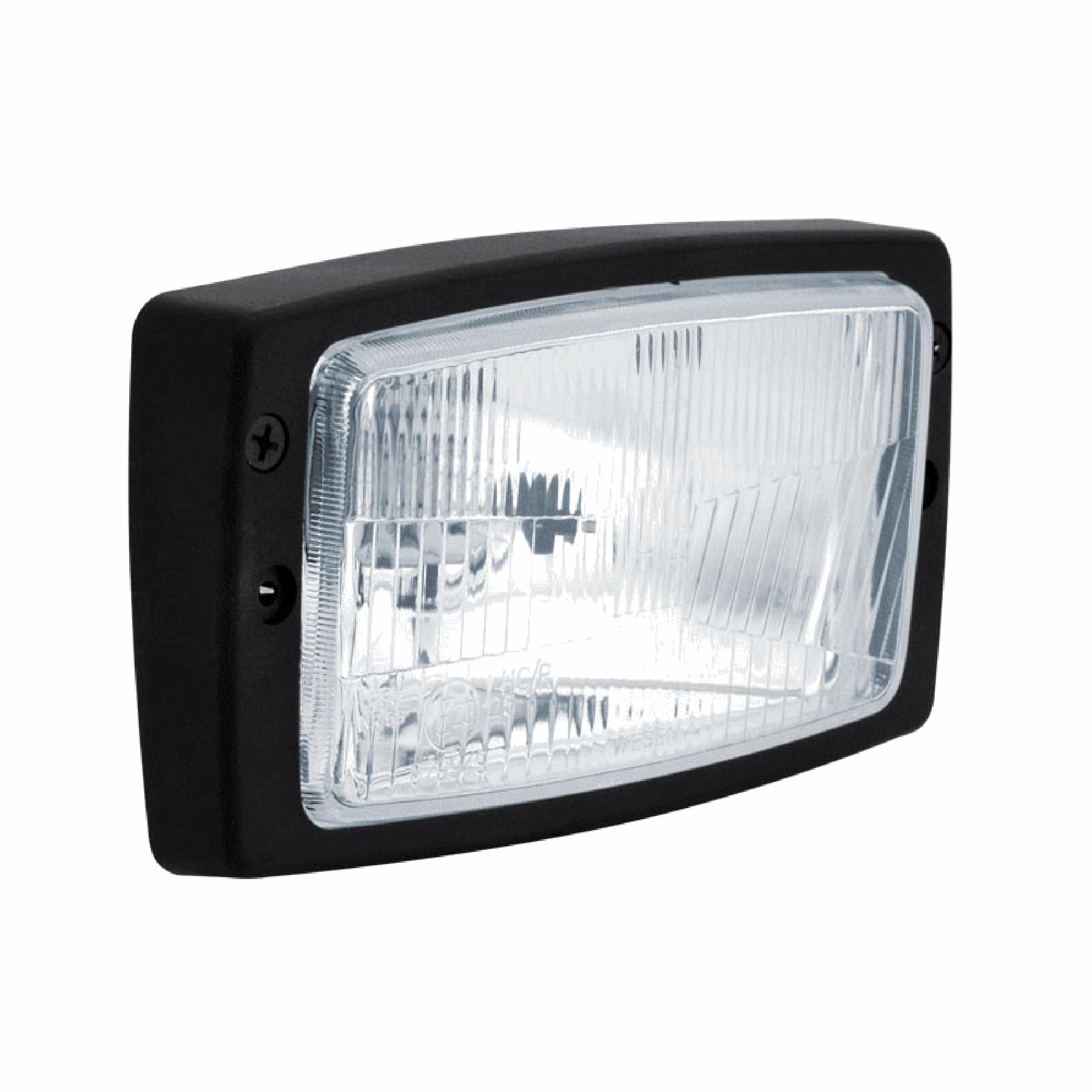 Inbouw werklamp uitw.184X102mm H4 geribbeld glas