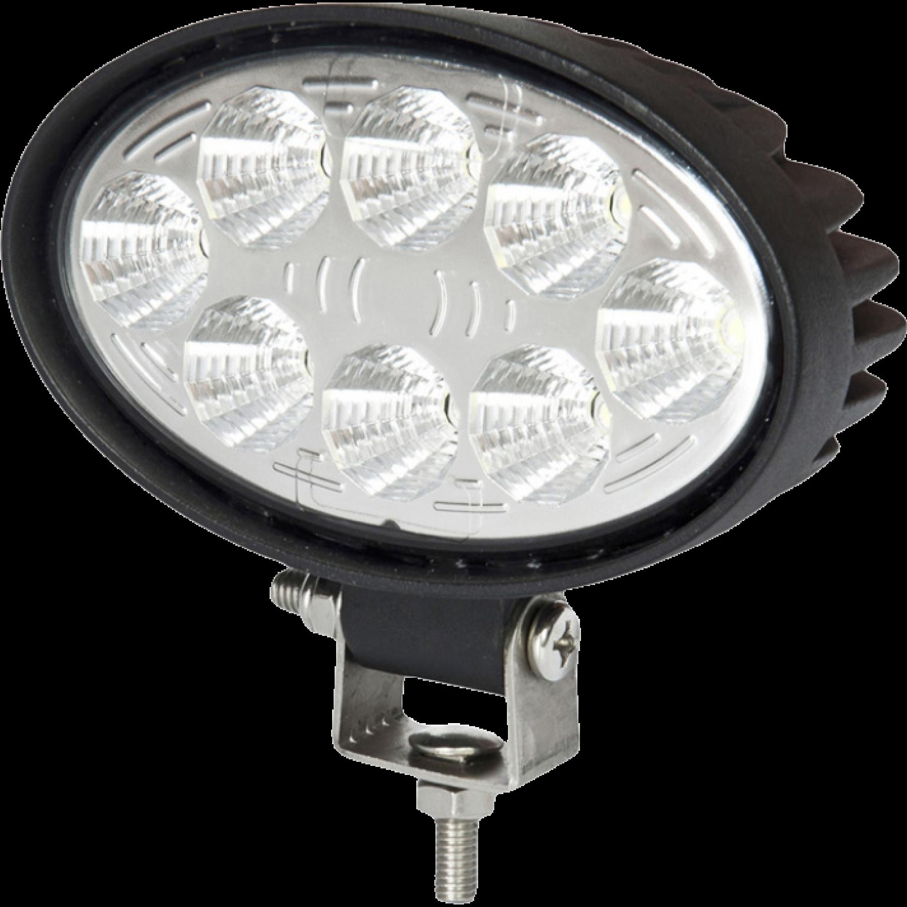 LED werklamp ovaal 24W 9-32v 2000 Lumen