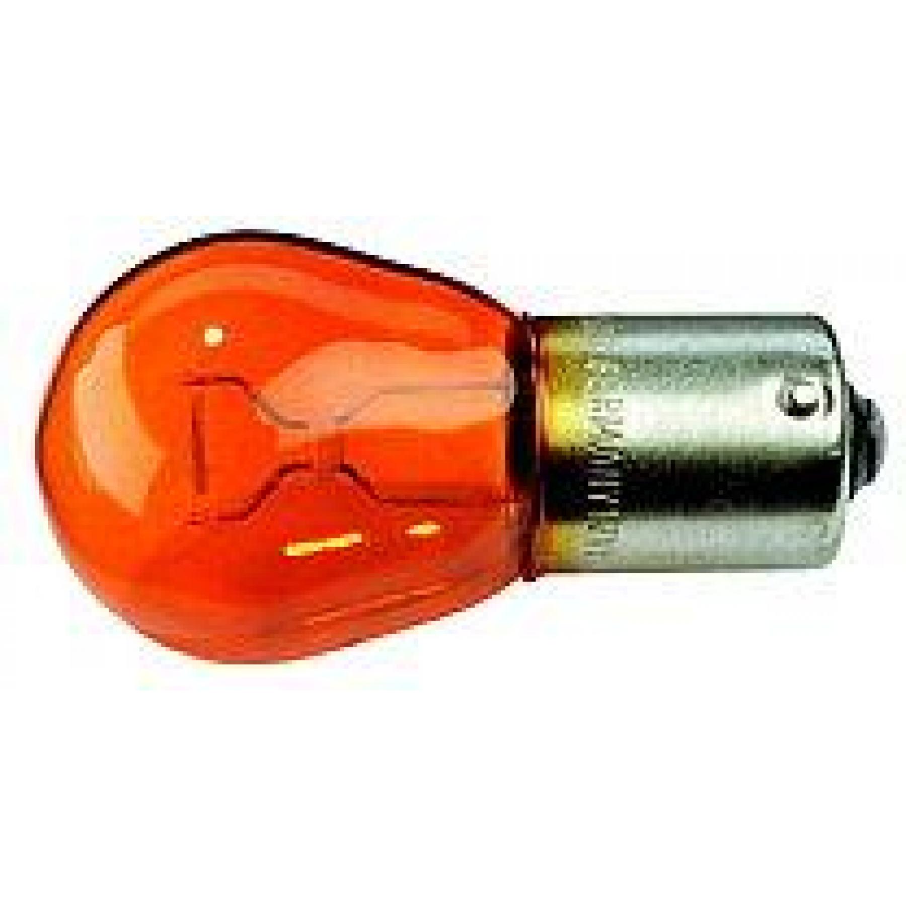 Gloeilamp 12v 21w oranje (12496) BAU15S (pen assym)