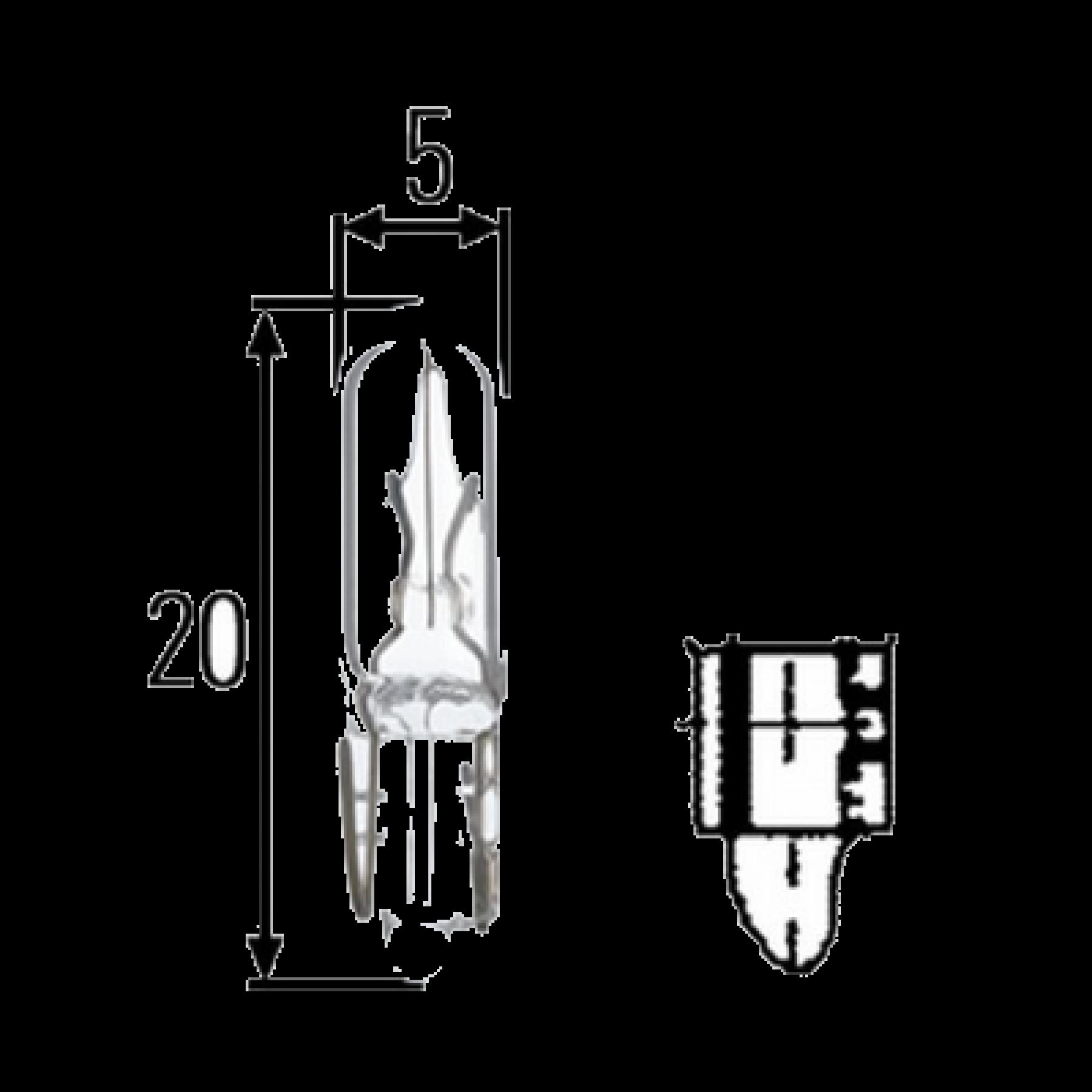 Gloeilamp 12v 5w 314 BA15d (12822)