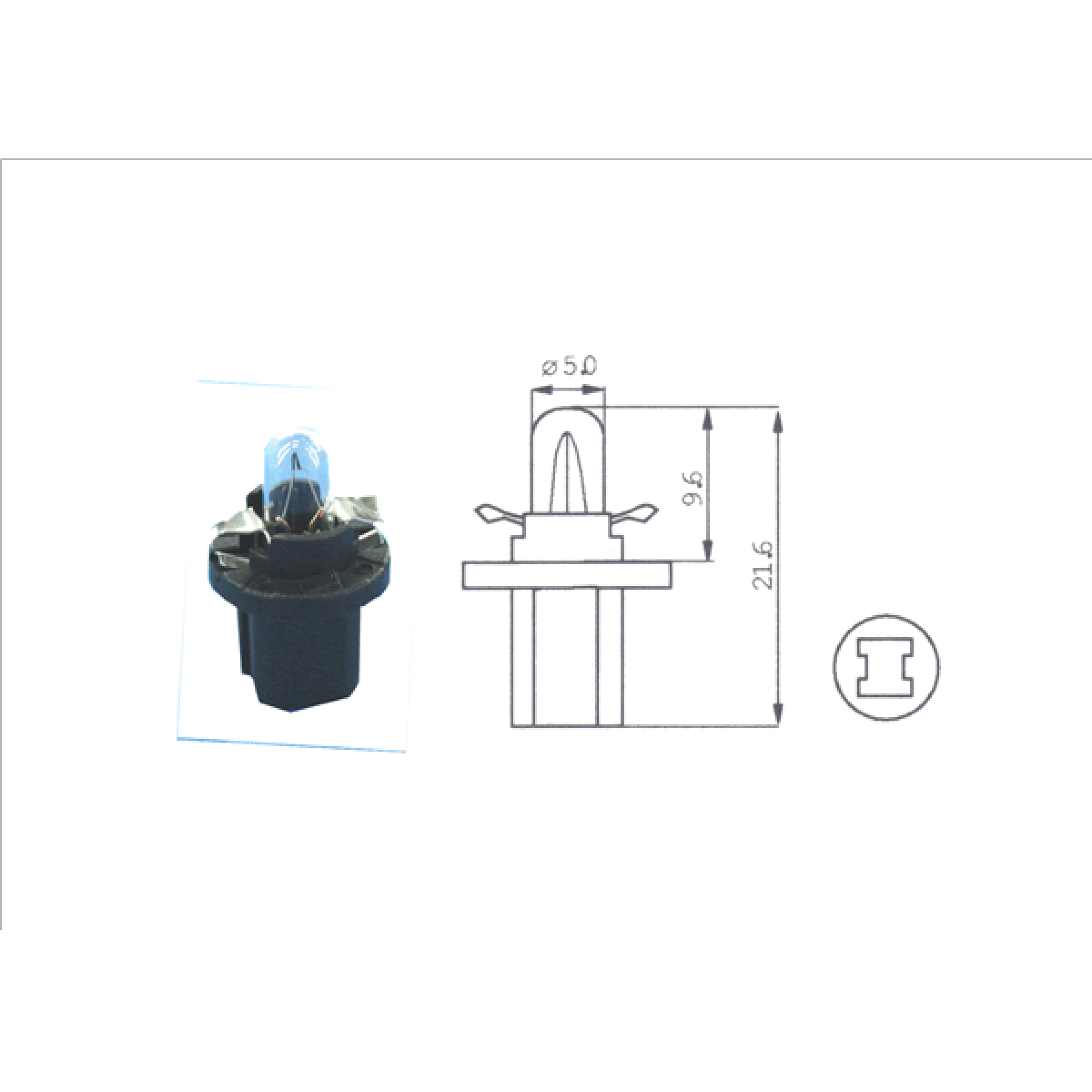 Lamp 1,2w (12598) zwart kunststof fitting