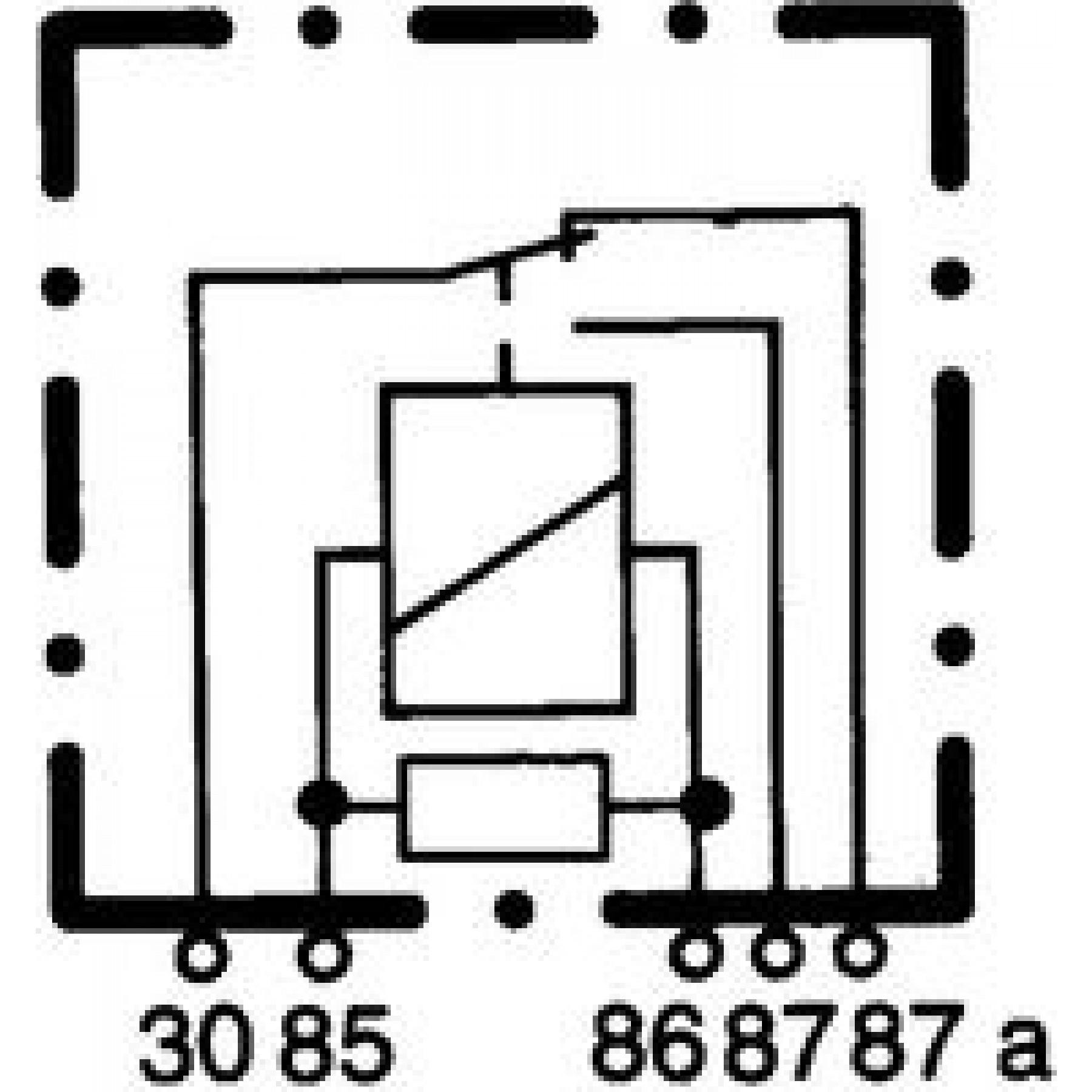 Relais 12v 5-polig 40/20amp 4RD007794031
