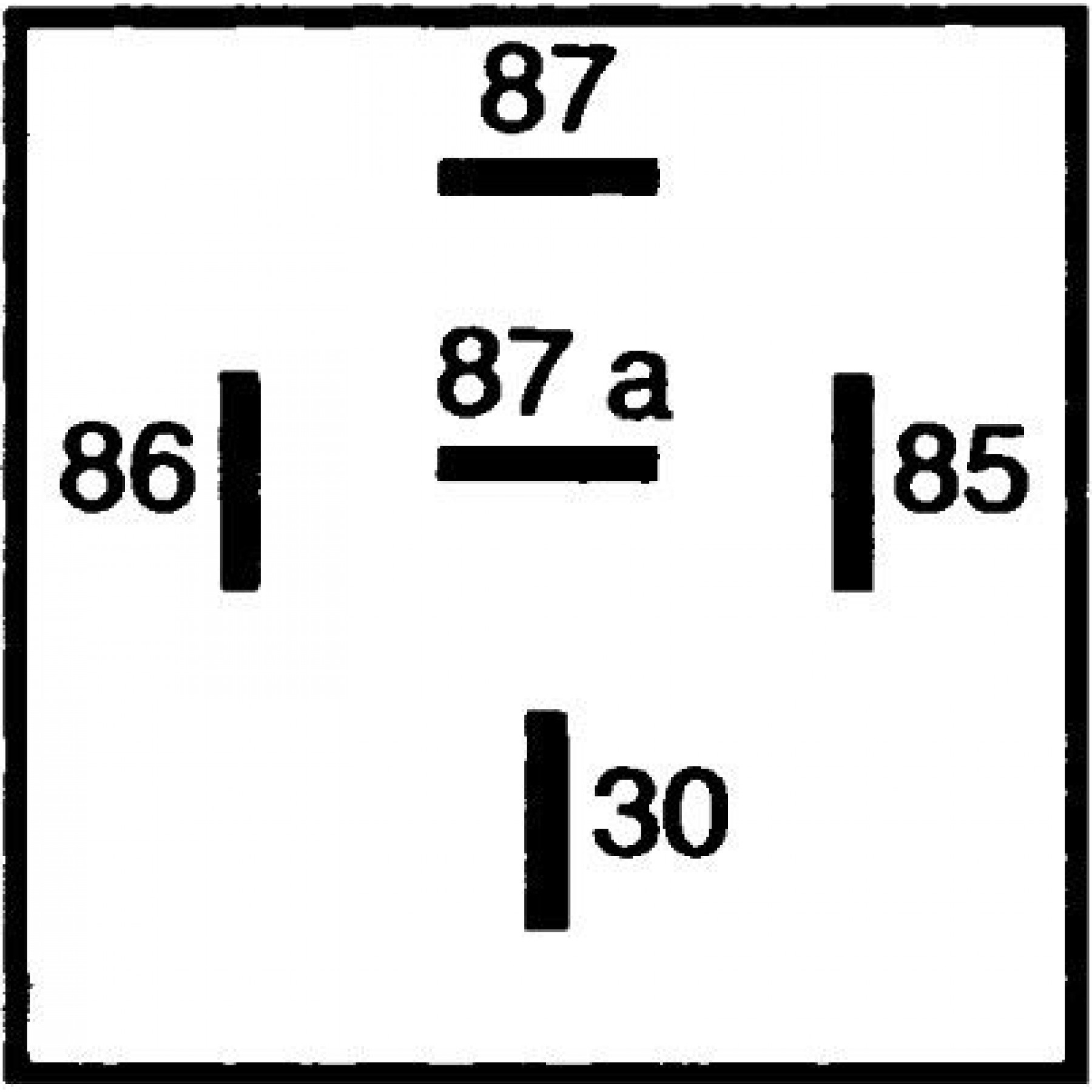 Relais mini 12v b 20/30amp 5-polig m/st