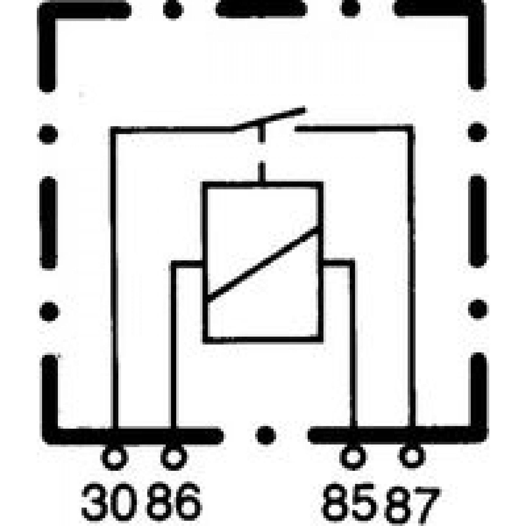Relais 24v 4-polig 20A A-OPST