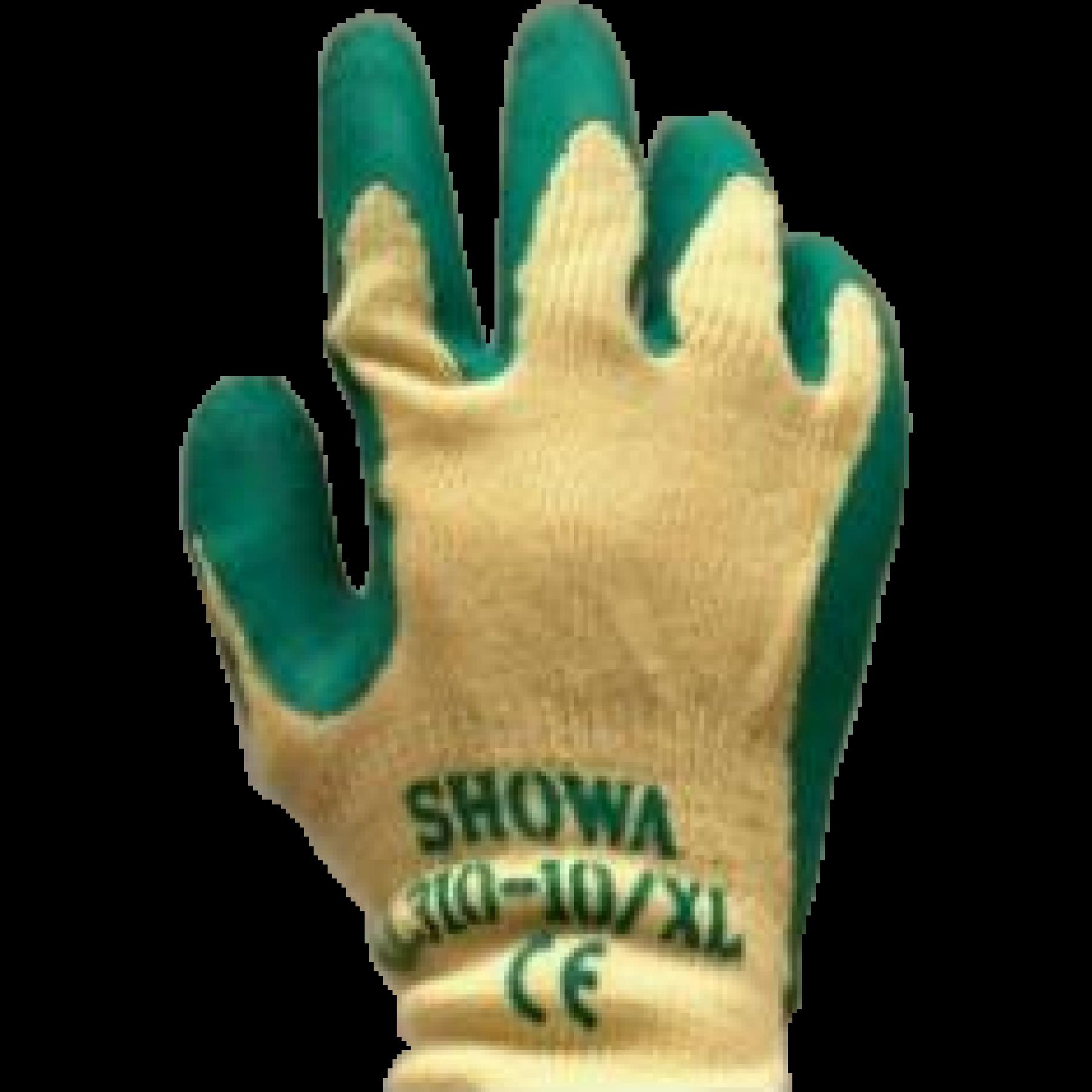Werkhandschoenen groen L