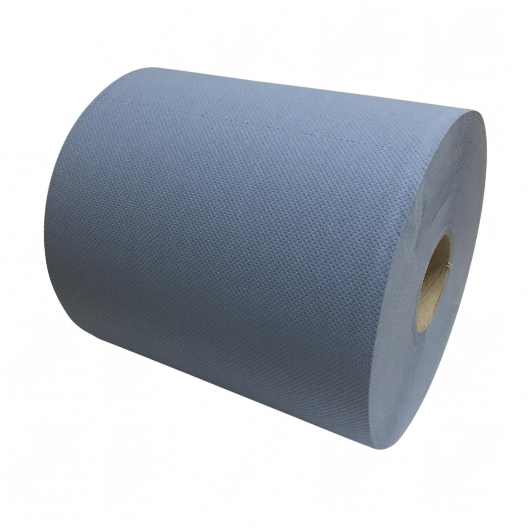 Poetspapier 2laags 37cmx380m blauw(per rol)