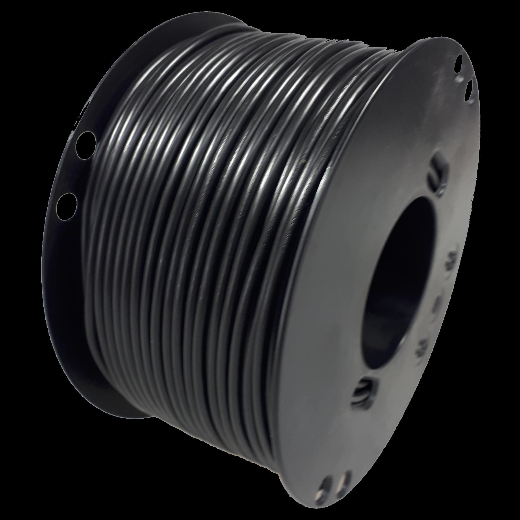 Kabel 2,5 zwart 100m haspel