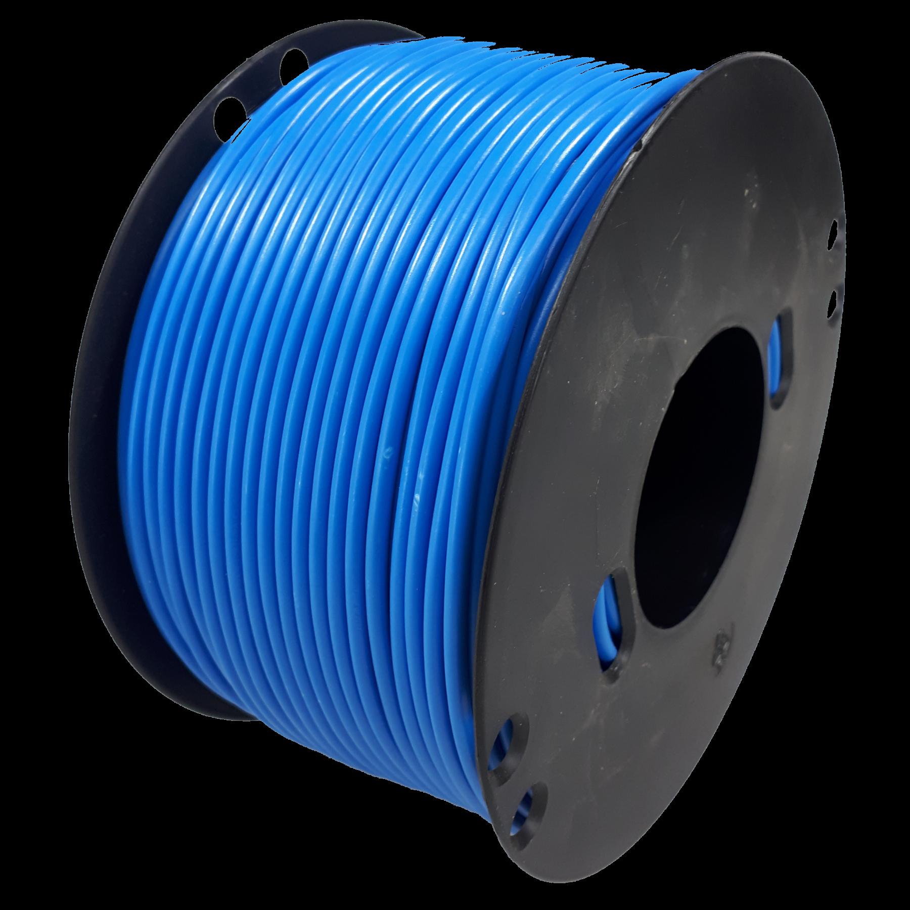 Kabel 2,5 blauw 100m haspel
