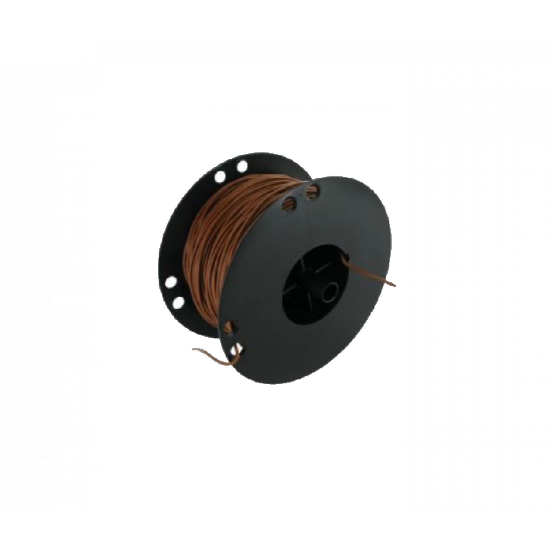 Kabel 0,75 bruin 100 mtr. haspel