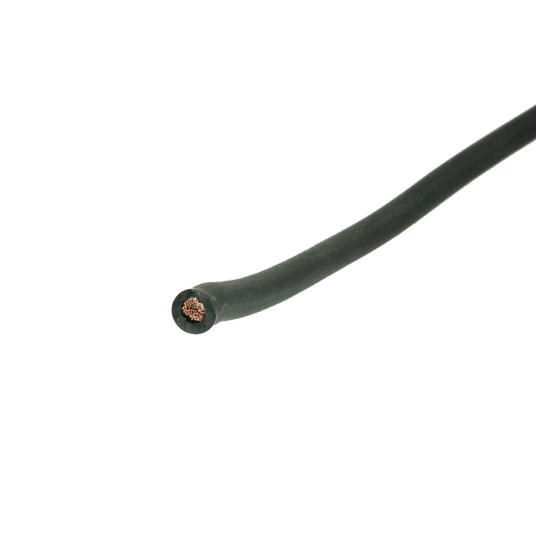 Las / startkabel 10mmq zwart pvc (50)