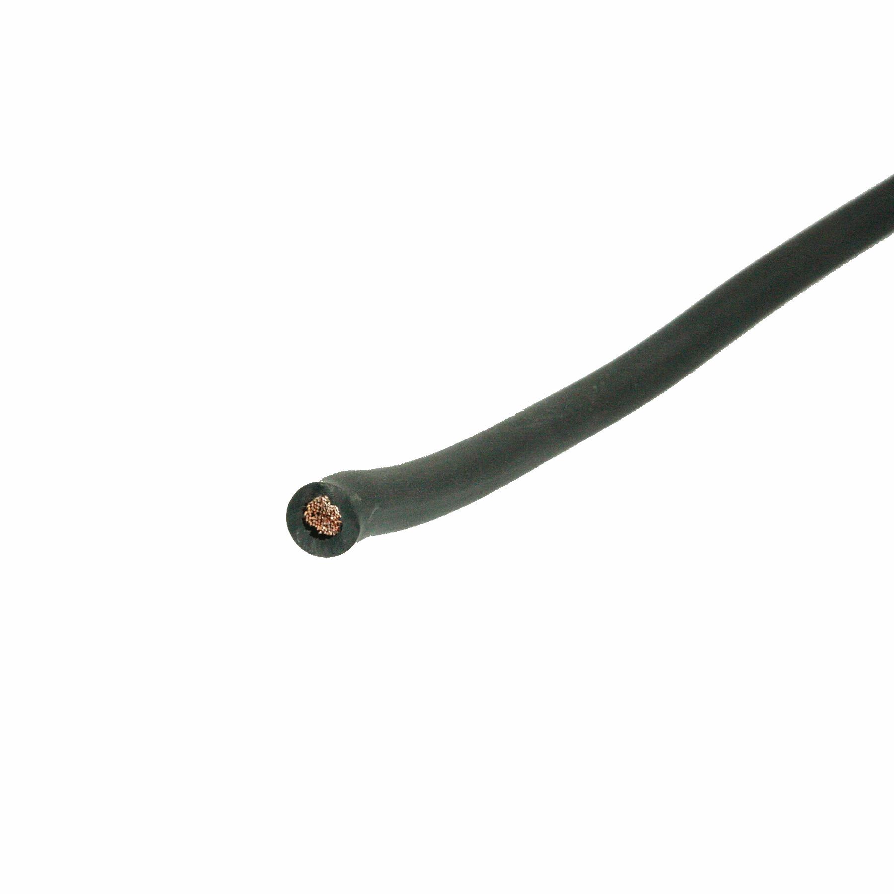 Las / startkabel 25mmq zwart pvc (25)