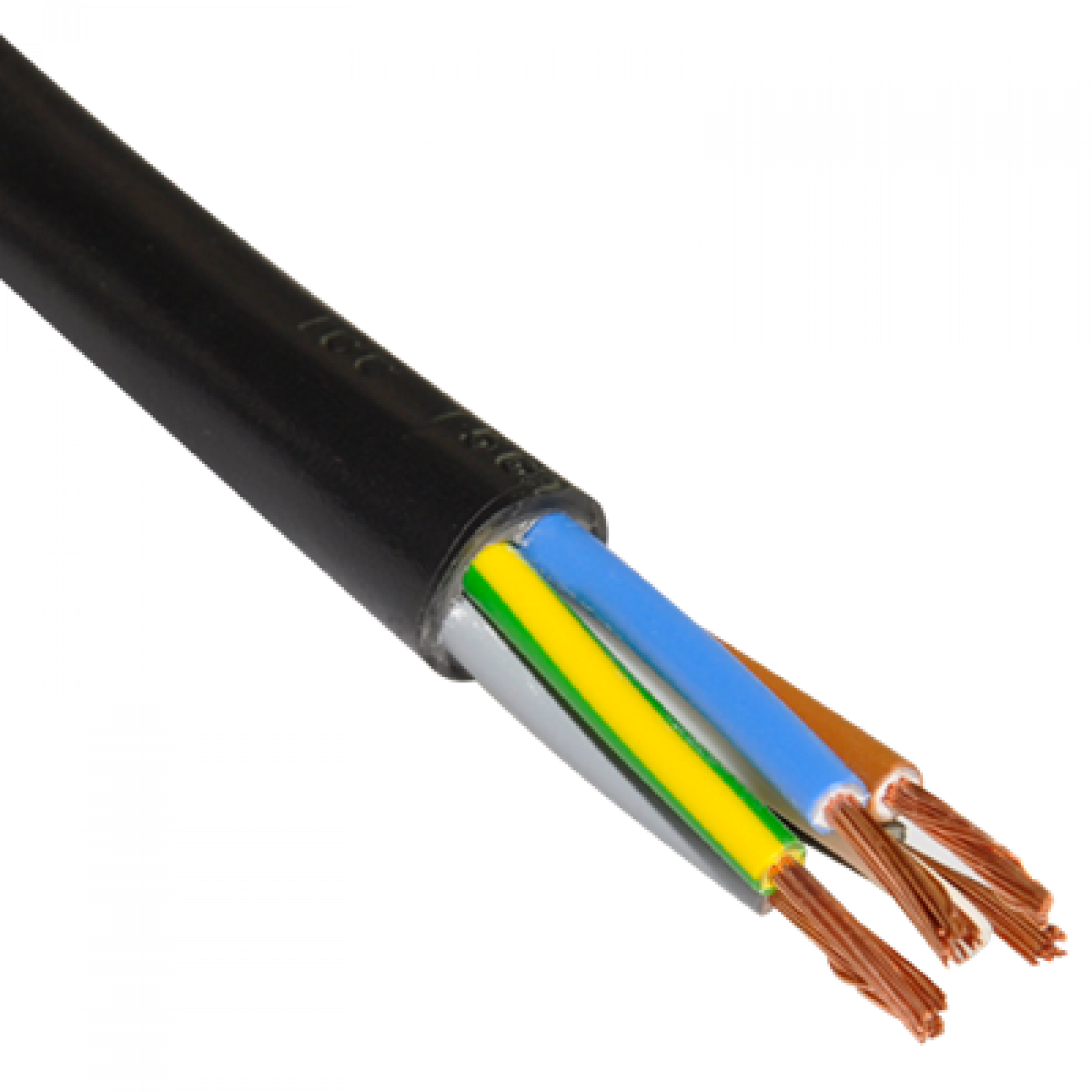 Kabel 5x0.75 rond 100 mtr
