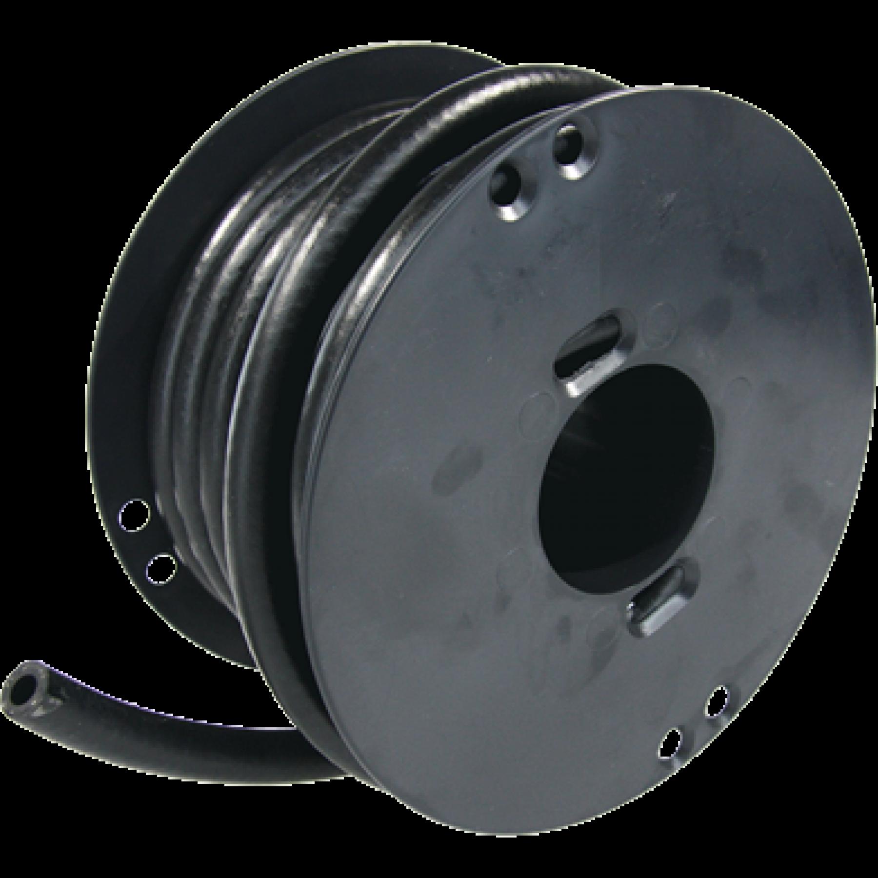 Brandstofslang zwart 6mm (15mtr.)