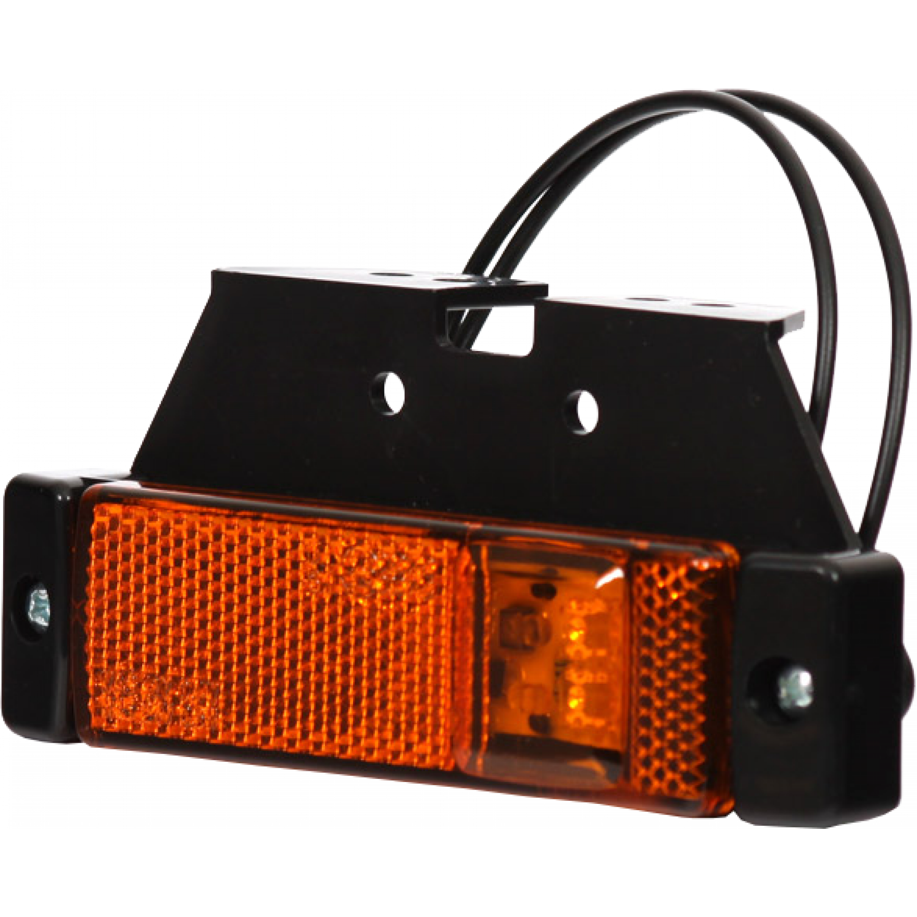 Markeringslamp LED oranje met steun