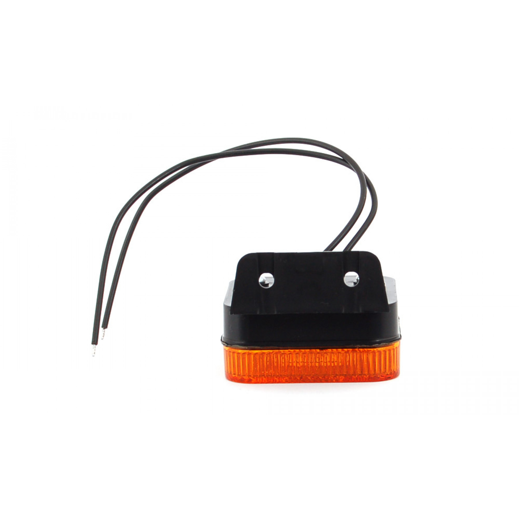 Markeringslamp LED oranje 12/24v 65x65x28 steun