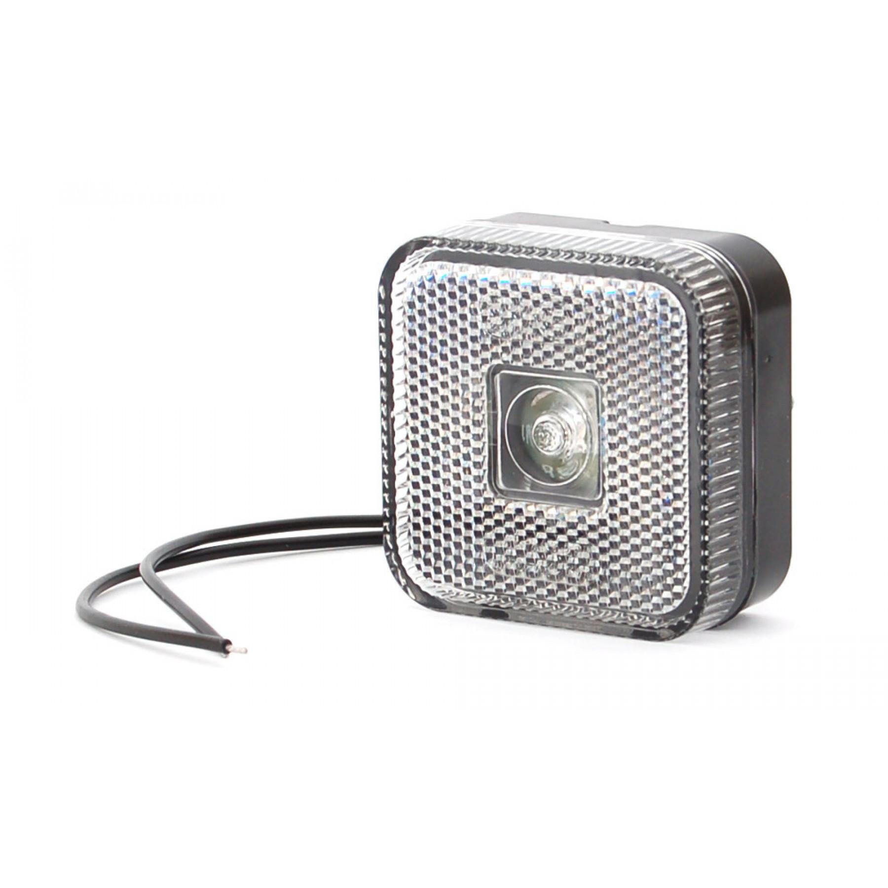 Markeringslamp LED wit 12/24v 65x65x28