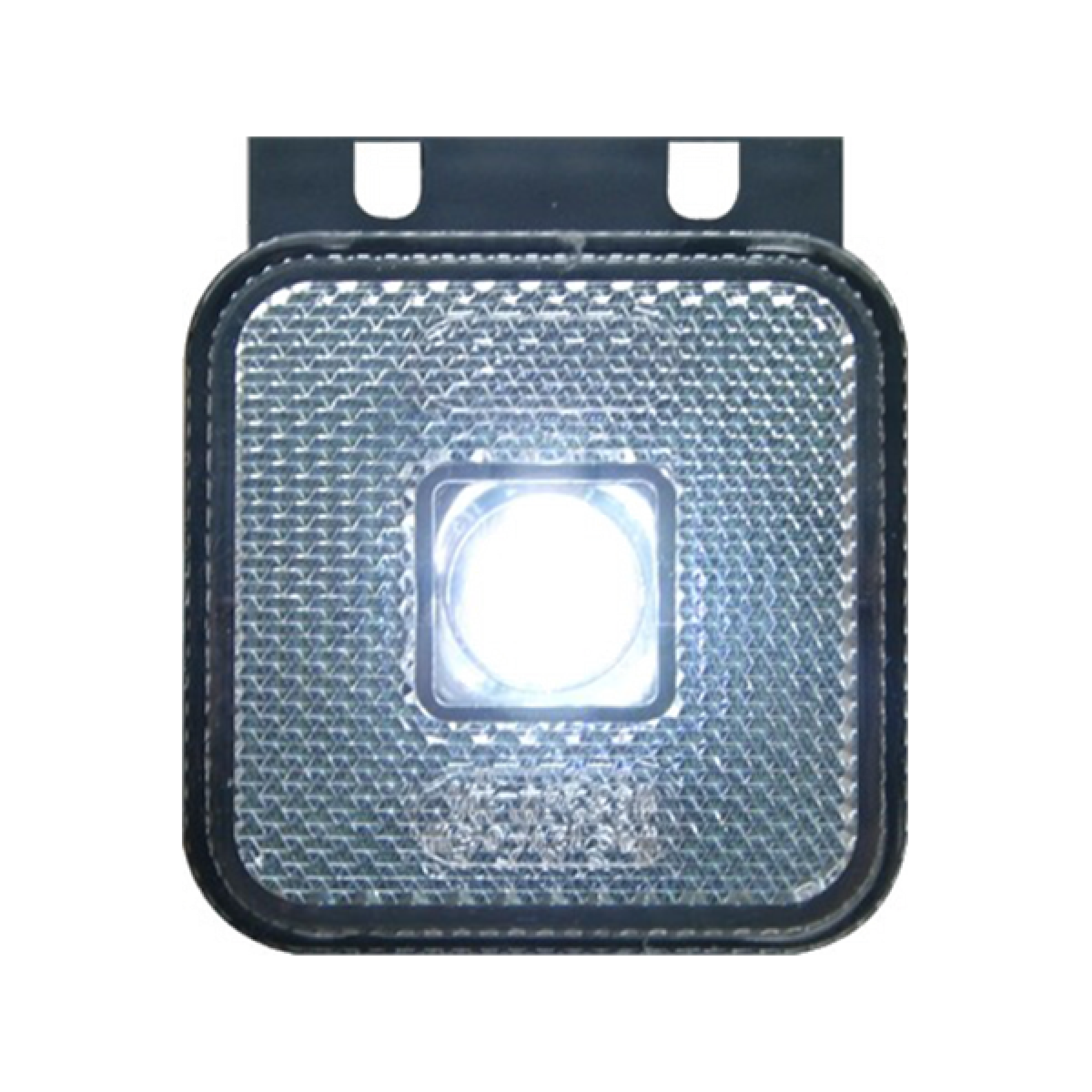 Markeringslamp LED wit 12/24v 65x65x28 steun