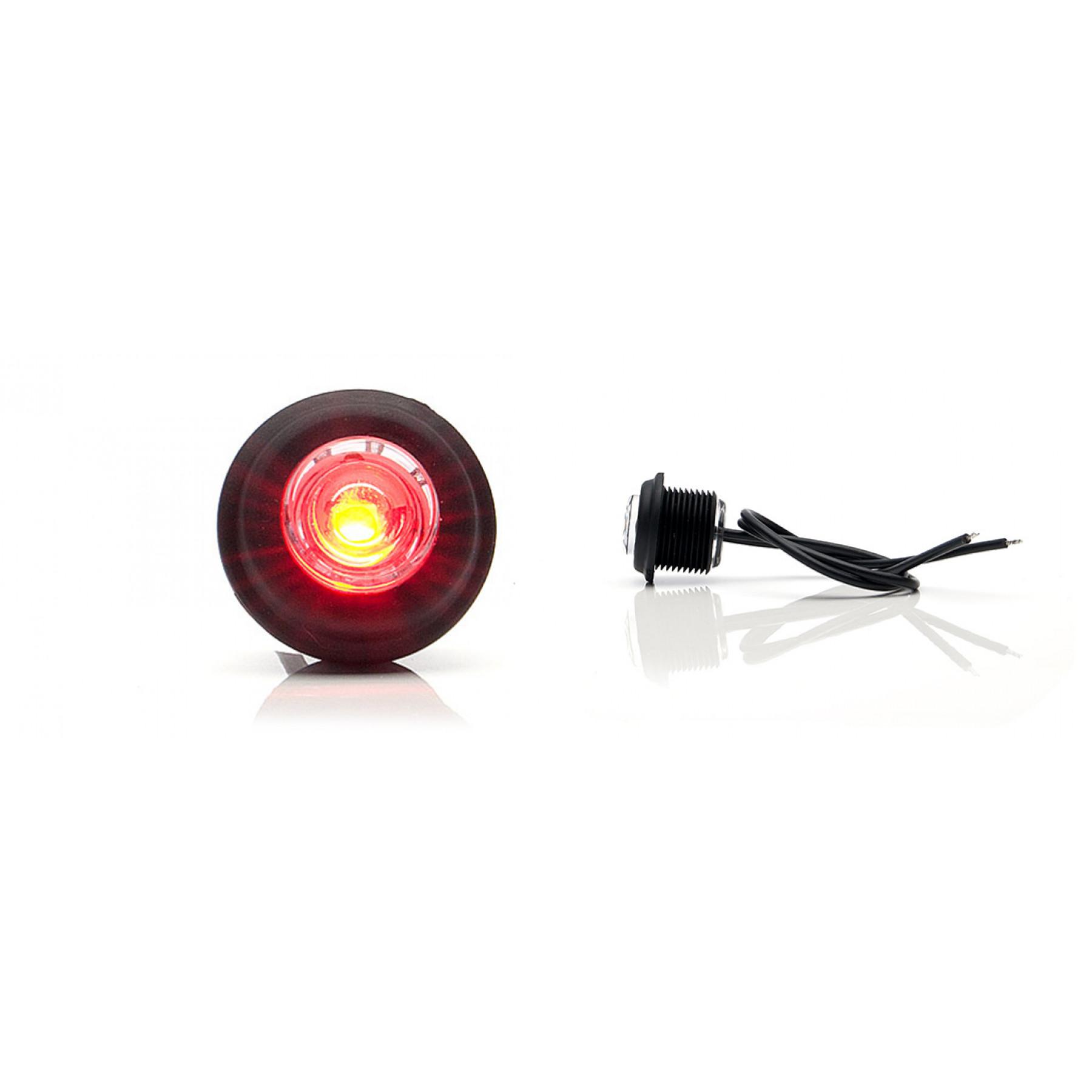 Markeringslamp LED rood 12/24v inbouw 21mm