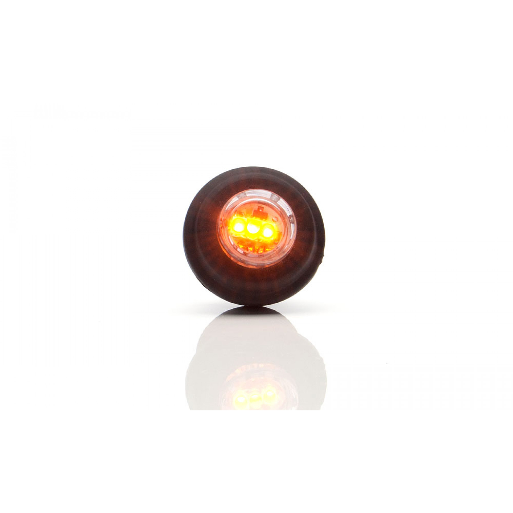 Markeringslamp LED oranje 12/24v inbouw 21mm