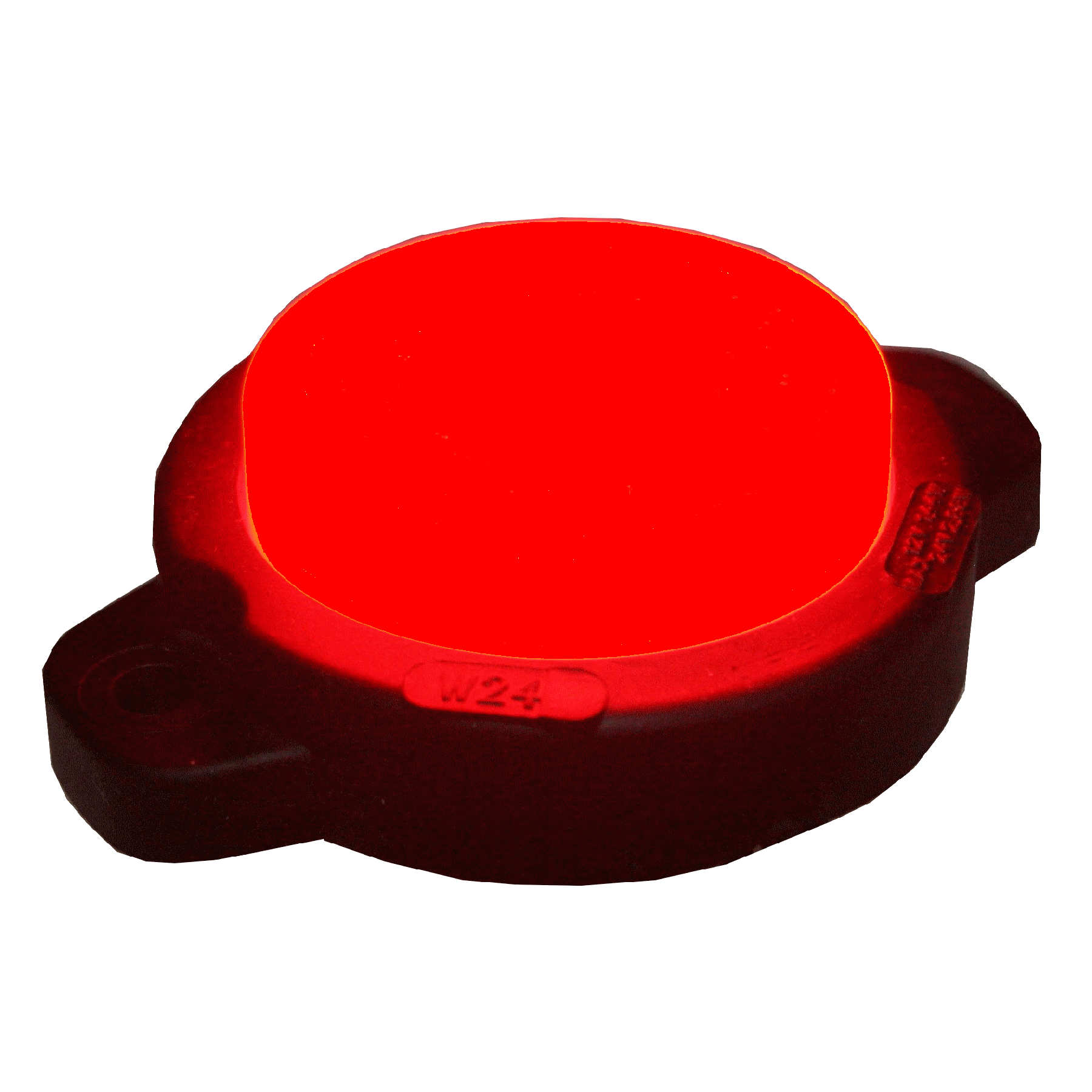 Markeringslamp LED rond rood neon
