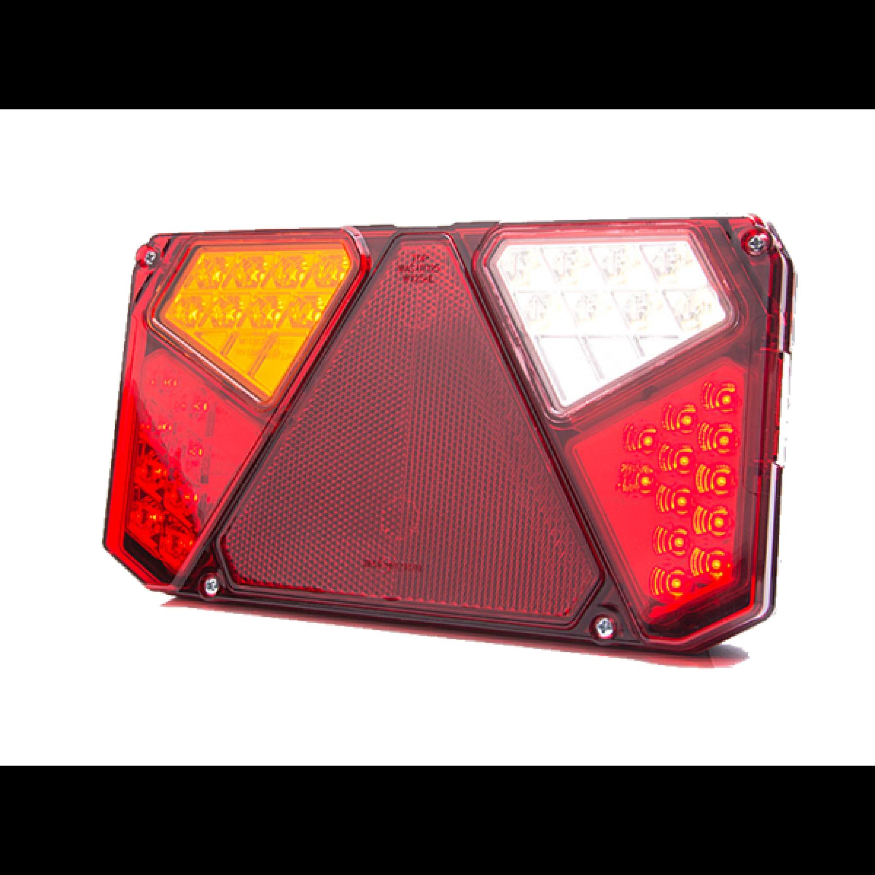 Achterlicht rechth. m.driehoek LED 12/24v. links