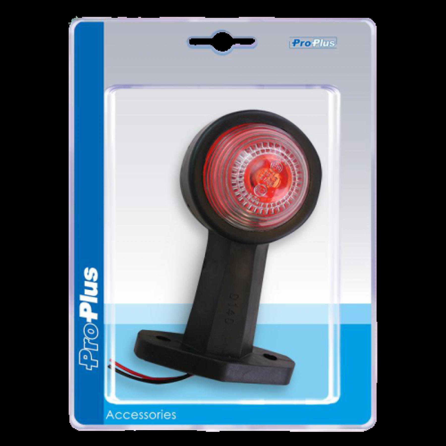 Markerings-breedtelamp recht rood/wit 120mm blister