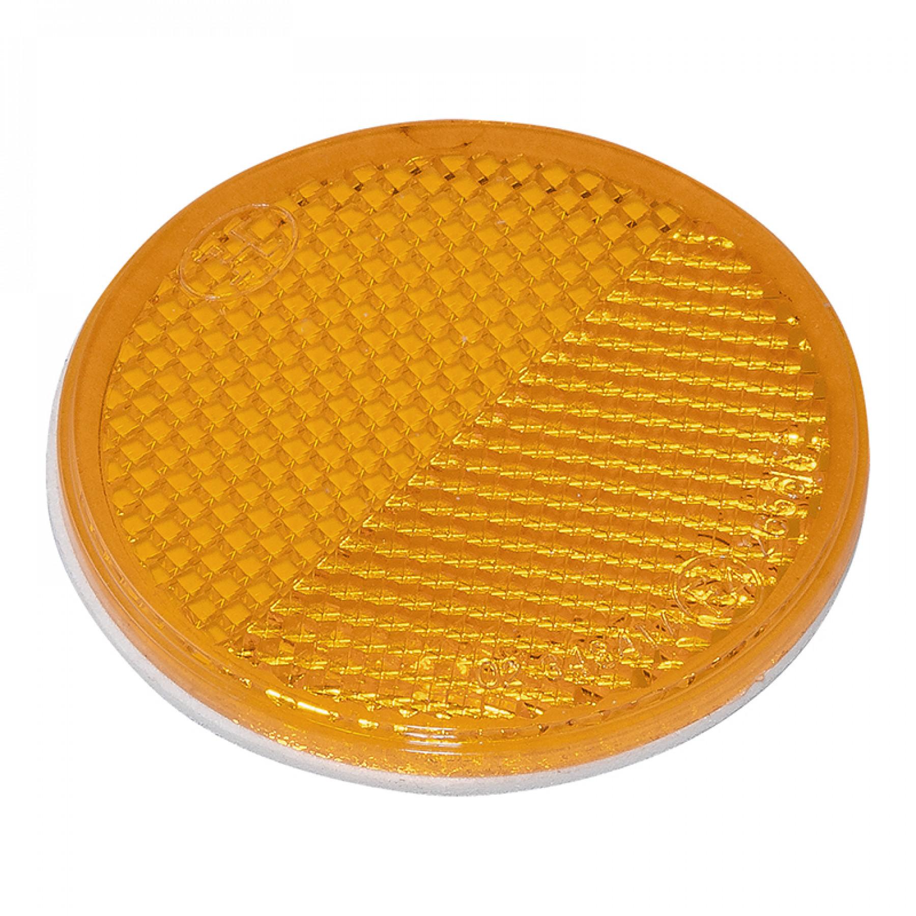 Reflector Oranje rond 60mm plak (2) Blister