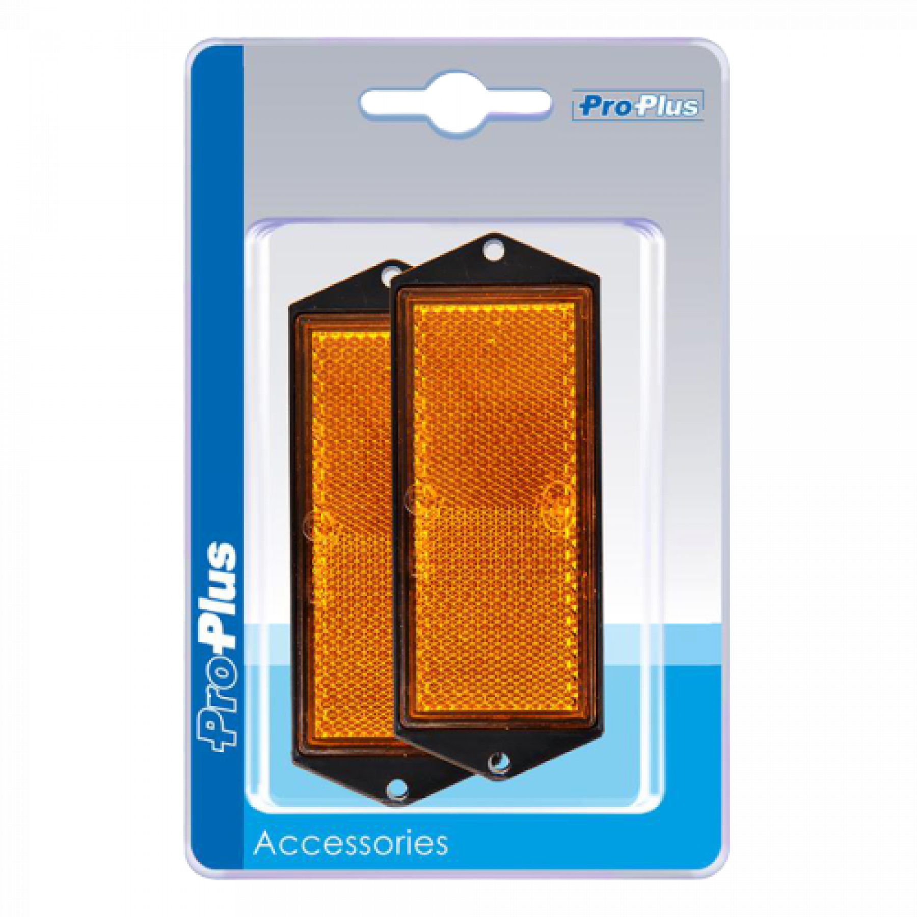 Reflector 90x40mm oranje (2) blister