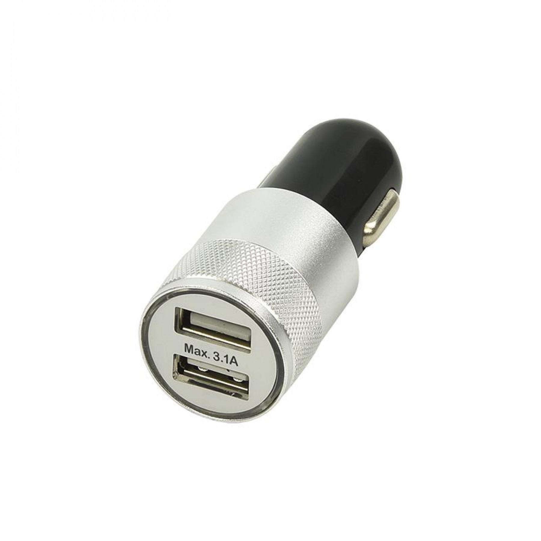 USB lader 2-weg 12/24v tbv aanstekerplug