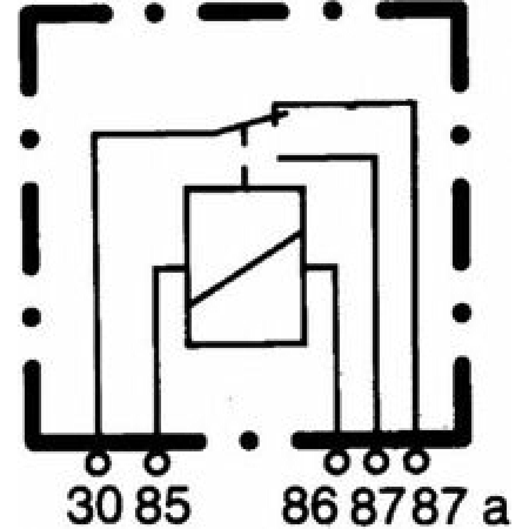 Hella relais 5pol 12v 20/40a4RD 933 332 051